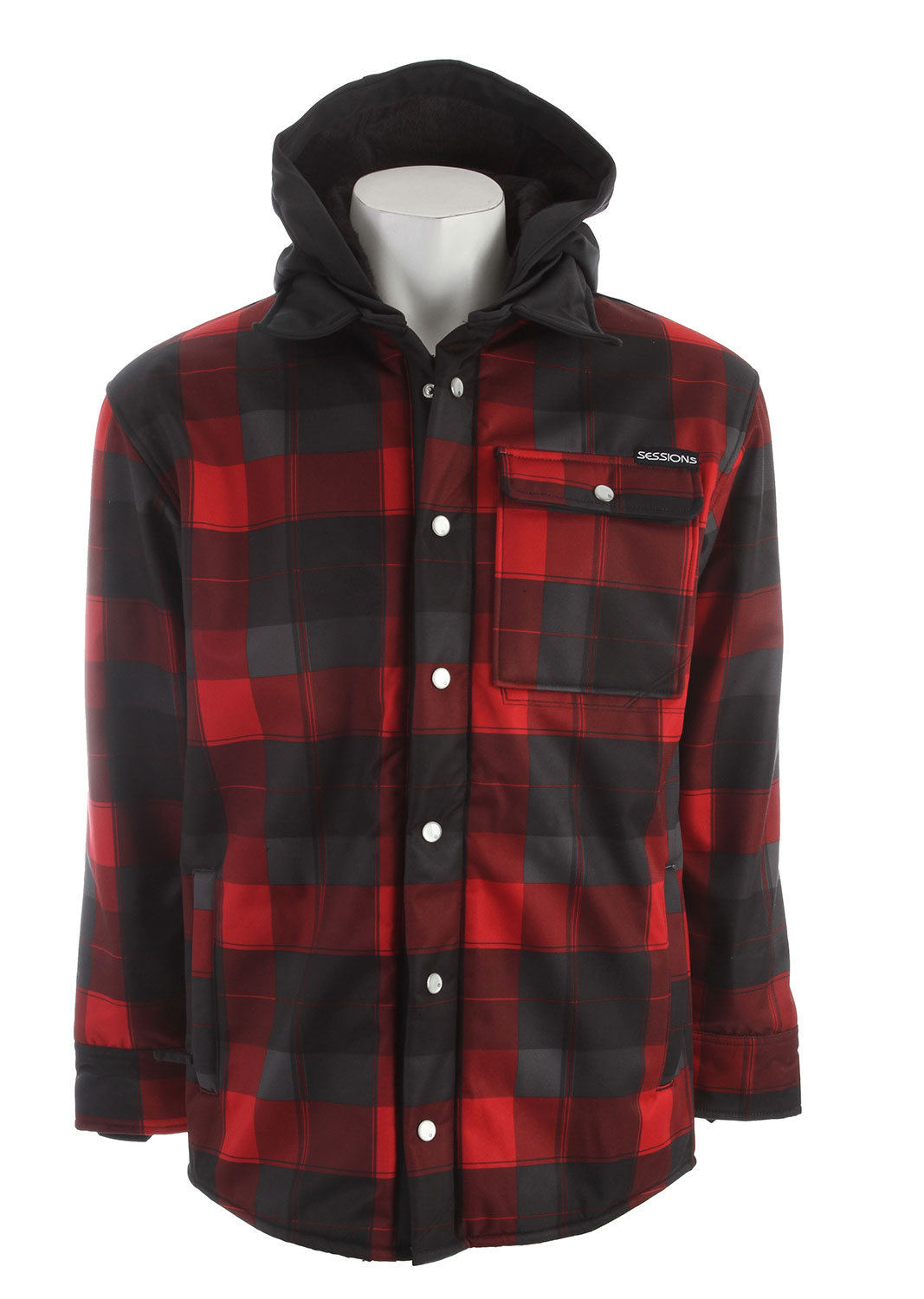 Key Features of the Sessions Outlaw Plaid Softshell Shell: 100% Polyester Lining: 100% Polyester Softshell Twill Fabrication Bonded Sherpa Interior Lycra Hand Gaiters - $113.95