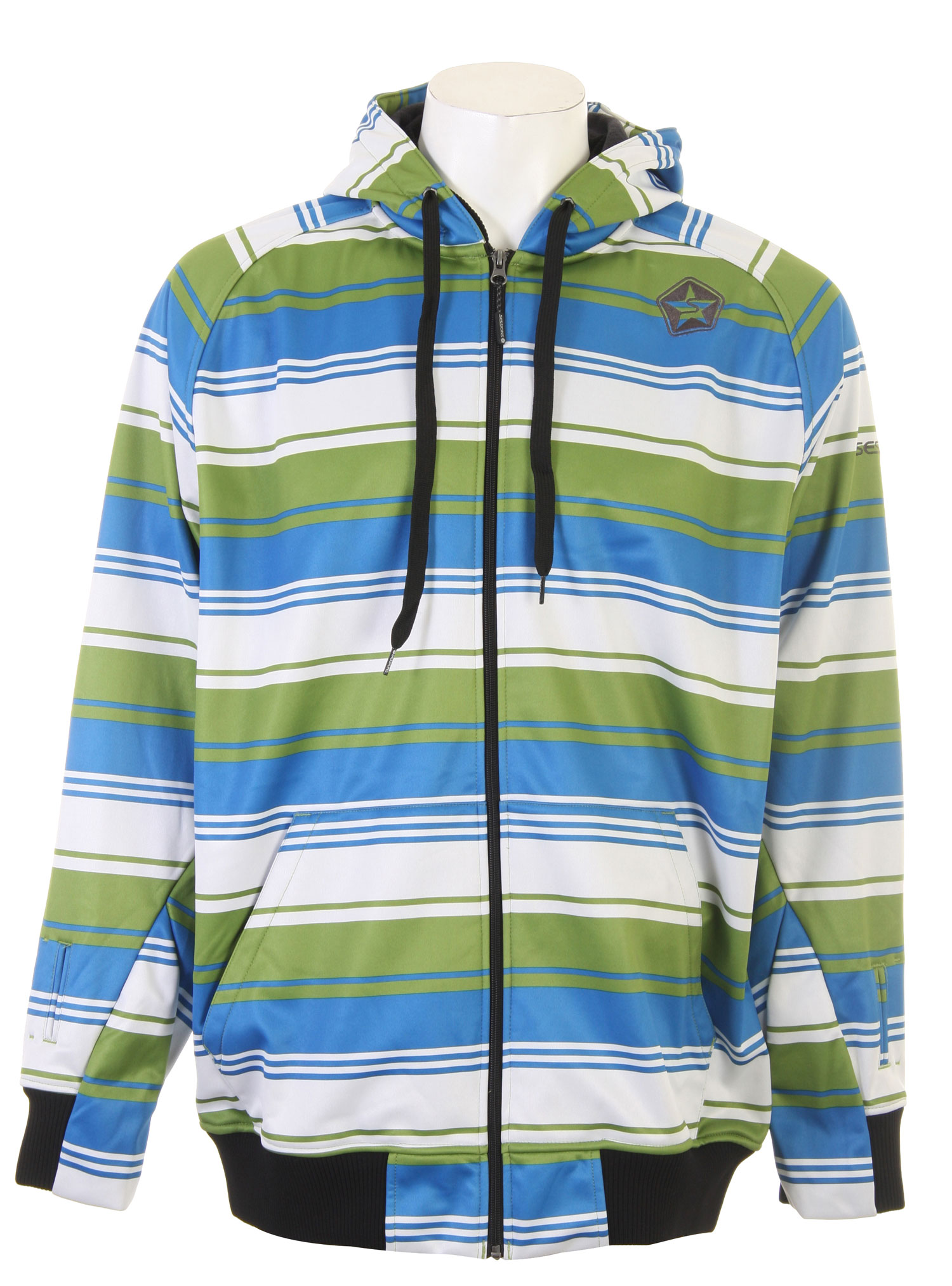 The Sessions Retro Stripe Softshell Jacket is a hoodie Style Softshell Jacket with Hidden Mitten feature and Audio Ports.Key Features of the Sessions Retro Stripe Softshell Jacket: 5,000mm Waterproof 8,000g Breathability Fit: True - $73.47