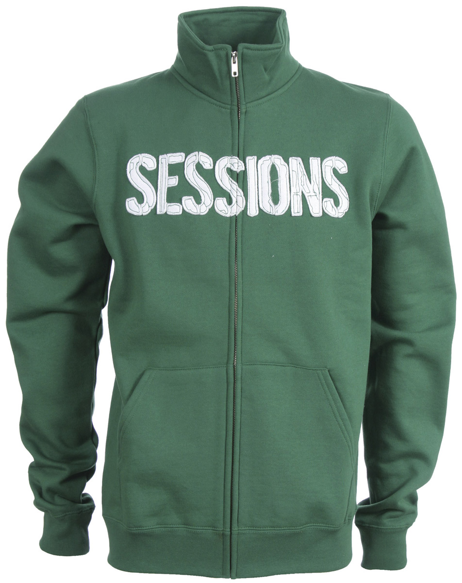 The Sessions Silver Medalist Track Jacket. 80% cotton 20% poly custom mock neck jogger with applique. - $16.95