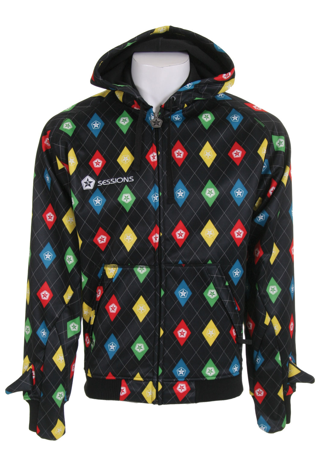 Check out the Sessions Stargyle Softshell Hoodie Black to channel your inner self. This bright and vibrant sweatshirt is sure to turn heads whether you are on the slopes or walking through the shopping mall. A concealed audio port is also included so you can listen to your tunes anywhere at any time. Also included are hidden features such as a hand warming mitt and a hideaway thumb. Put all these together and you get quite the package.Key Features of The Sessions Stargyle Softshell Hoodie: 5,000mm Waterproof 5,000g Breathability Interlock Fleece Audio Port Hidden Mitt, Hideaway Thumb and Mitt Features - $41.56