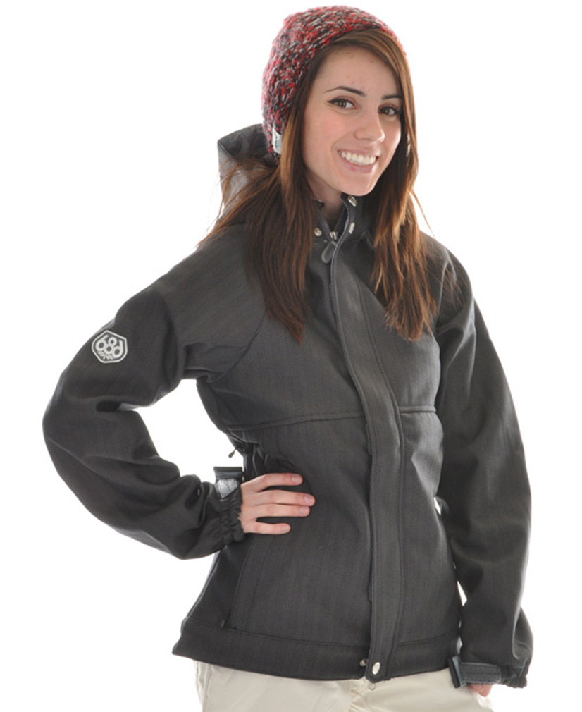 "Snowboard The 686 Plexus Quest Softshell Snowboard Jacket is part of a select group of jackets that covers all of the basic essentials, but still maintains all the nifty extra features an experienced boarder looks for in a satisfactory jacket. Though the quality jacket is light and breathable to say the least, its binding-finished internal seams do an amazing job at insulating the interior of the incredibly warm jacket. It also comes with a special ""686"" accent logo printed onto the sleeve to prove the legitimacy of the brand.Key Features of the 686 Plexus Quest Softshell Snowboard Jacket: 15,000mm Waterproof 10,000mm Breathable Textured Herringbone w/ 210 Backing Softshell Fabrication Zip-Off Powder Skirt 686 Custom Spot Print Sleeve Accent Binding Finished Internal Seams Pit Zip Vents - $89.95"