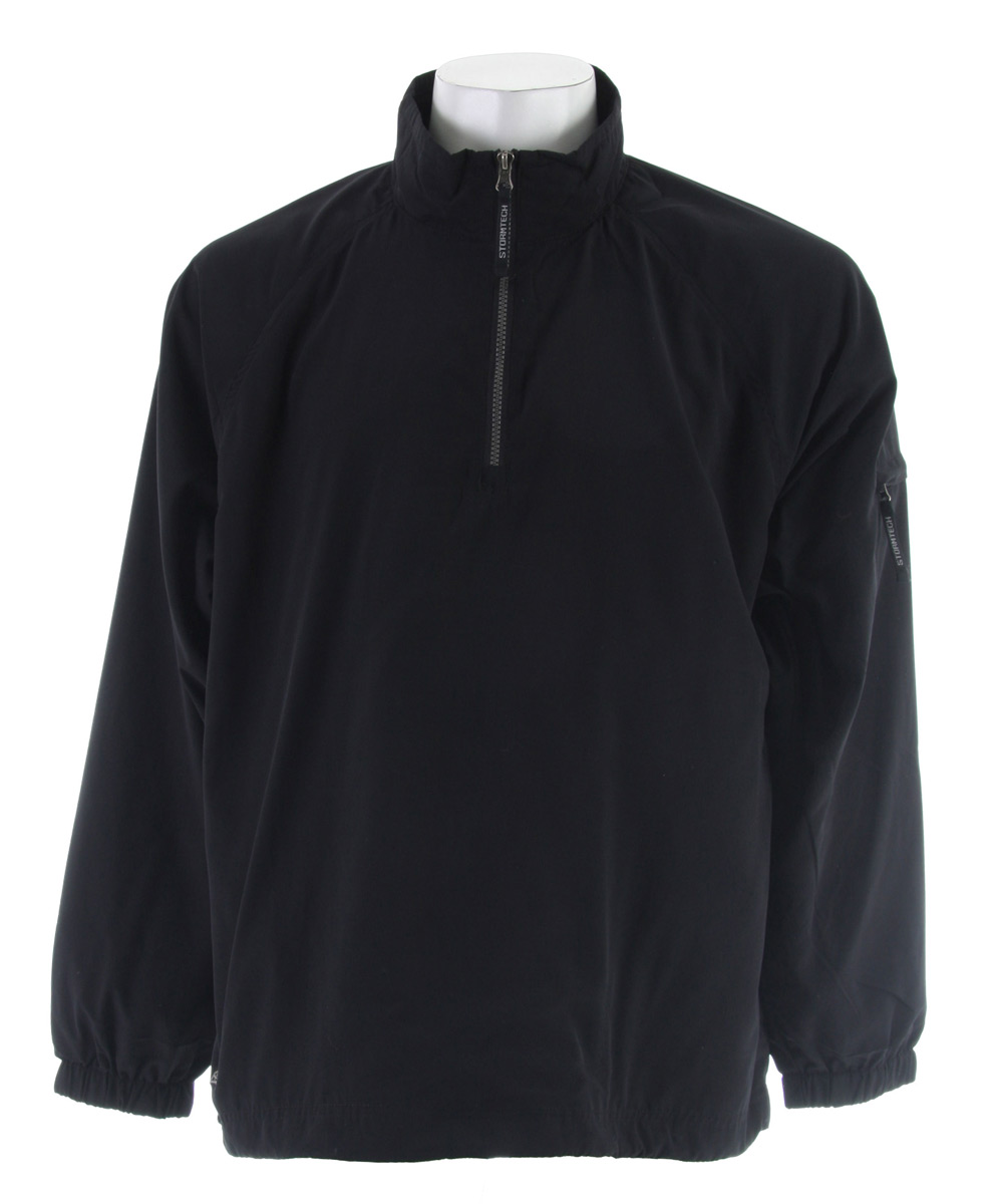 Regulate your core temperature by shielding wind with the Geos Windshirt. It is extremely lightweight and water resistant, so keep it handy for unpredictable weather.Key Features for the Stormtech Geos Micro L/S Windshirt: Lightweight and Water Resistant Outshell Side Seam Pockets Elastic Drawcord Hem Deep Cut Armholes for Optimal Mobility Stand-Up Rib Knit Lined Collar Elastic Cuffs Taffeta Lining Fabric: 100% Water Resistant Polyester Microripstop Lining: 100% Polyester Mesh - $14.95