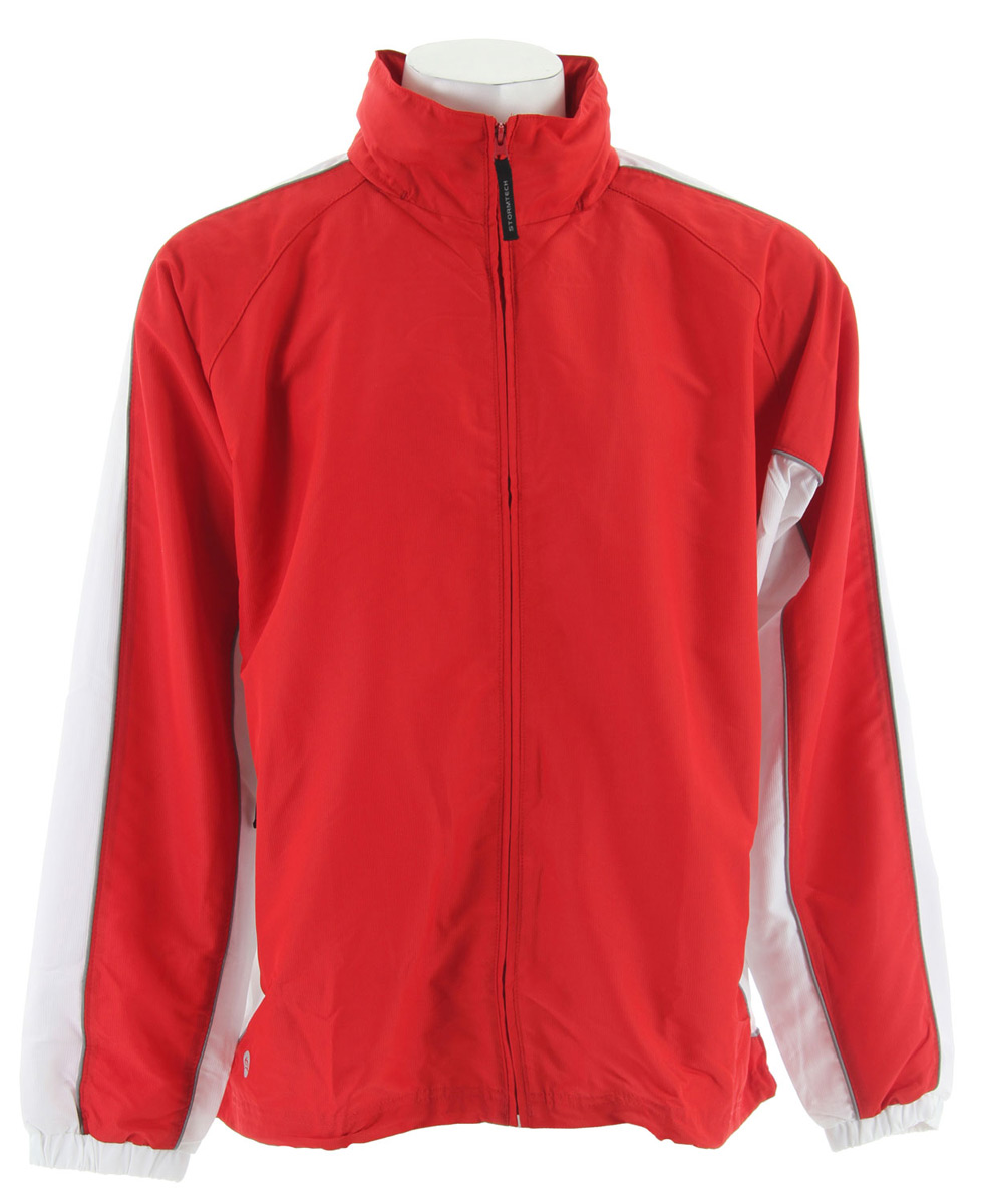 Fitness The lightweight and super soft Micro-Jacquard Track Jacket is ideal for those days involving multiple activities - biking, grocery shopping, dog walking, and el fresco dining.Key Features for the Stormtech Micro Jacquard Track Jacket: Wind/Water Repellent Outshell Mesh & Taffeta Lining Embroidery Access Elastic Drawcord Hem - $17.95
