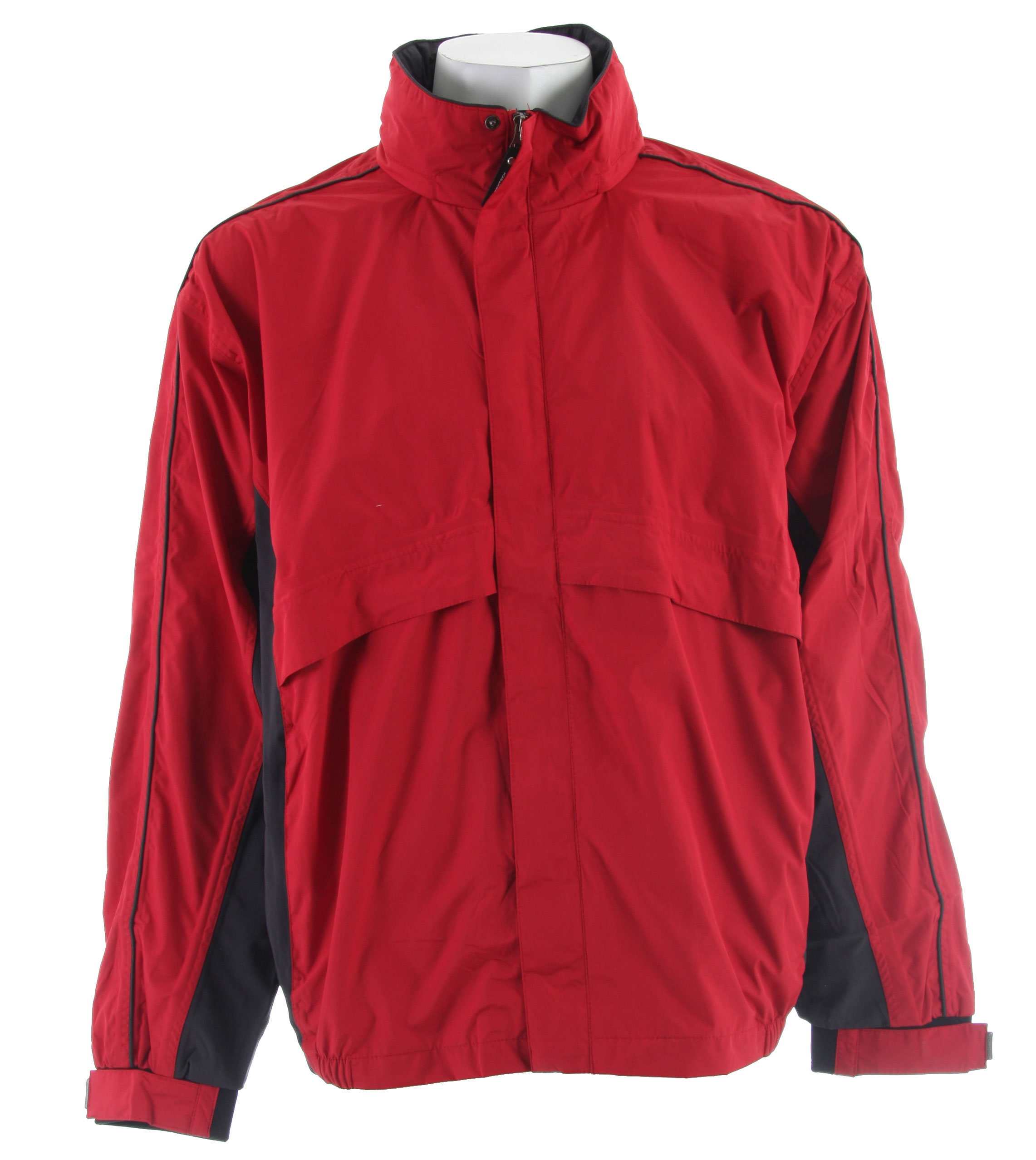 Stormtech Trident Microflex Rainshell Jacket Red/Granite - $53.95