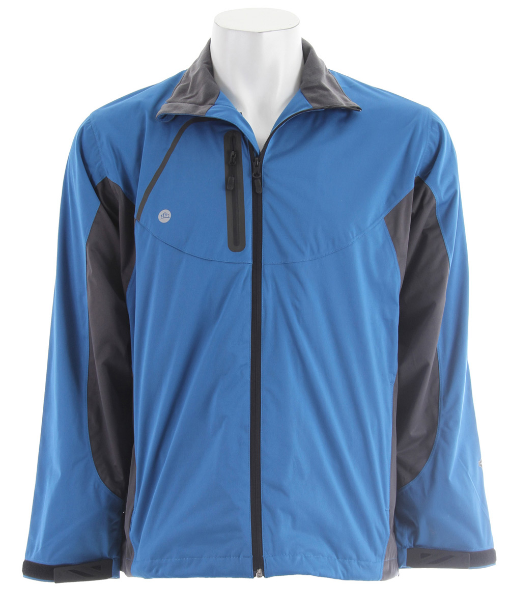 Stormtech Trident Microflex Storm Shell Jacket Cool Blue/Granite - $44.95