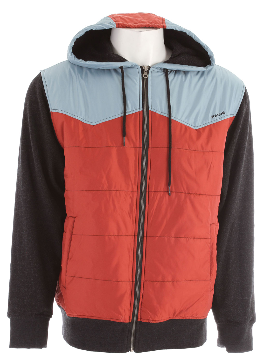 Surf Key Features of the Volcom Cane Hoodie: Quilted poly fill fleece Poly taffeta hood and body Fleece line body and fleece sleeves Outdoor trim package Chest embroidery Pre shrunk, basic fit 600mm DWR poly taffeta/60% cotton/40% polyester fleece, 260gm - $43.95