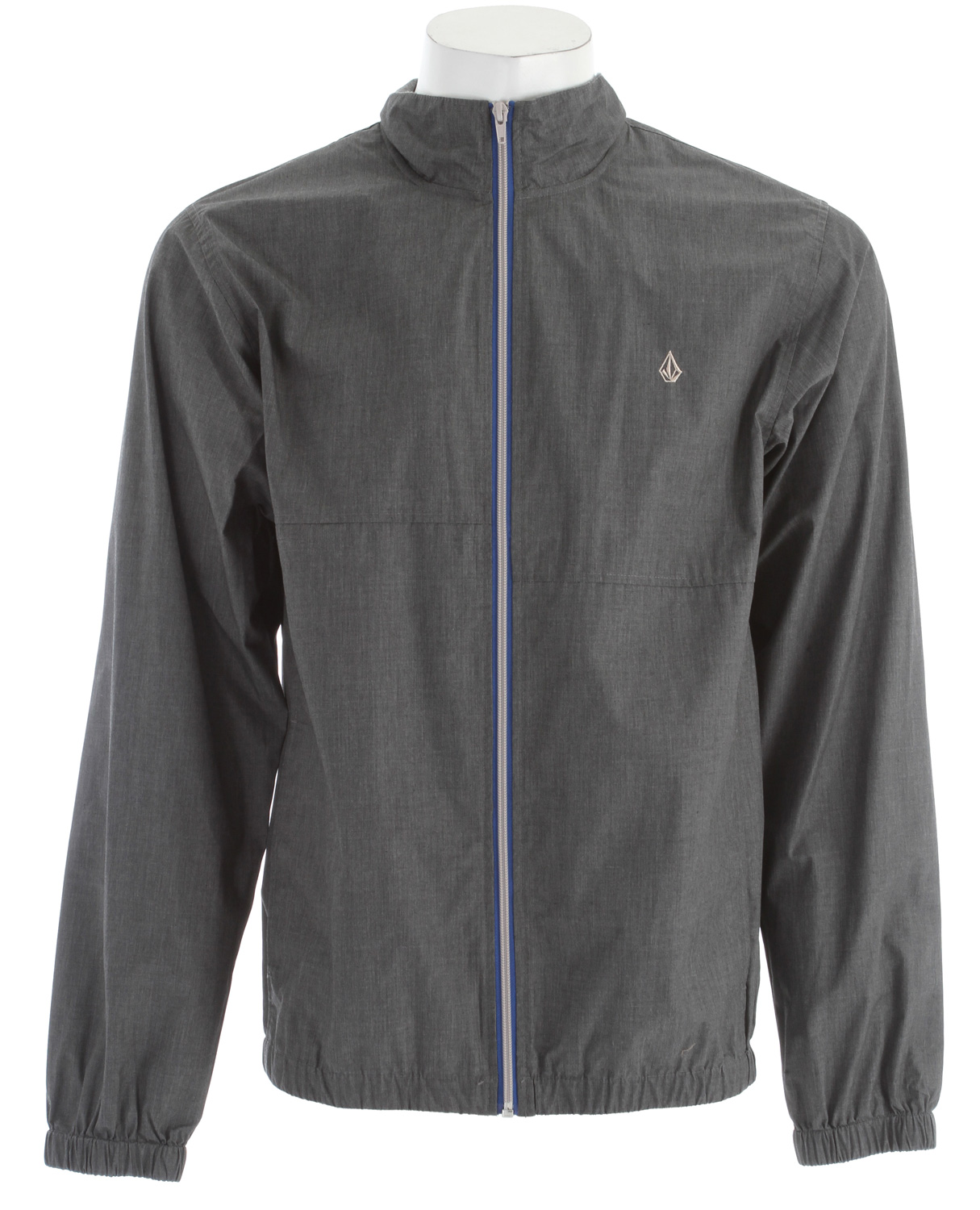 Surf Key Features of the Volcom Fadeaway Jacket: Mock neck windbreaker 2 color front zipper Elastic cuff and waistband Rib interior collar Full body mesh lining 65% polyester/35% cotton w/ 600mm - $37.95