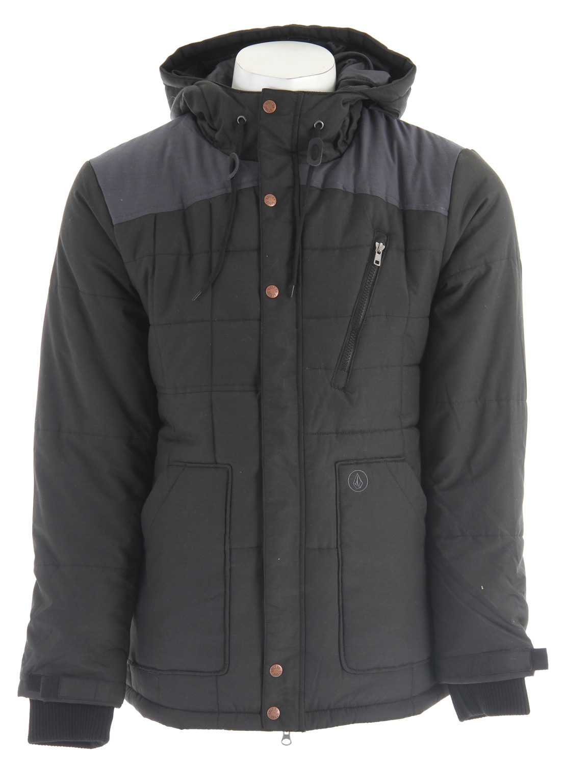 Surf Key Features of the Volcom Stone Rise Jacket: Hooded Parka Quilted poly insulation Contrast shoulder and back hood paneling Covered front zip closure Chest zip pocket Lower hand pockets Full printed lining Outdoor Collection 41% Nylon/40% Polyester/19% Cotton w/ 240g Polyfill - $61.95