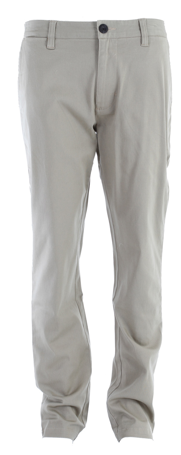 "Key Features of the Analog AG Chino Pants: Slim Chino pant with 15.5"" leg opening and interior waistband detail Worker labeling 99% Cotton/1% Stretch with garment wash and softeners - $35.95"