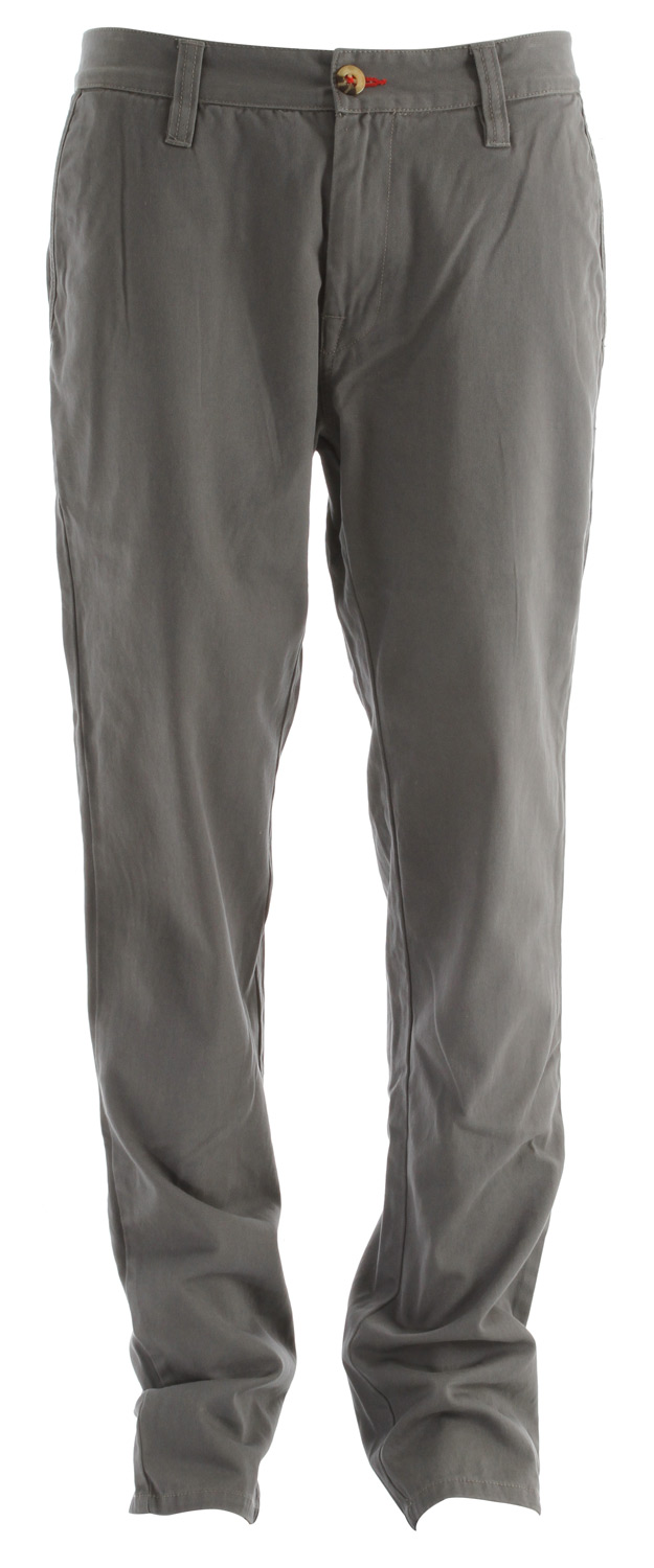 Snowboard Key Features of the Burton Maddox Chino Pants: 100% Cotton Solid Twill Garment Wash Mid Fit - $37.95