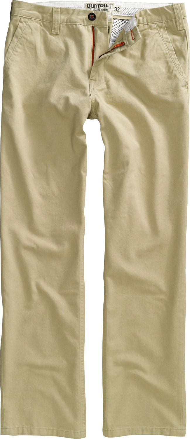 Snowboard Key Features of the Burton Relax Twill Pants: 100% Cotton Garment Wash Mid Fit Solid Twill Pants - $37.95