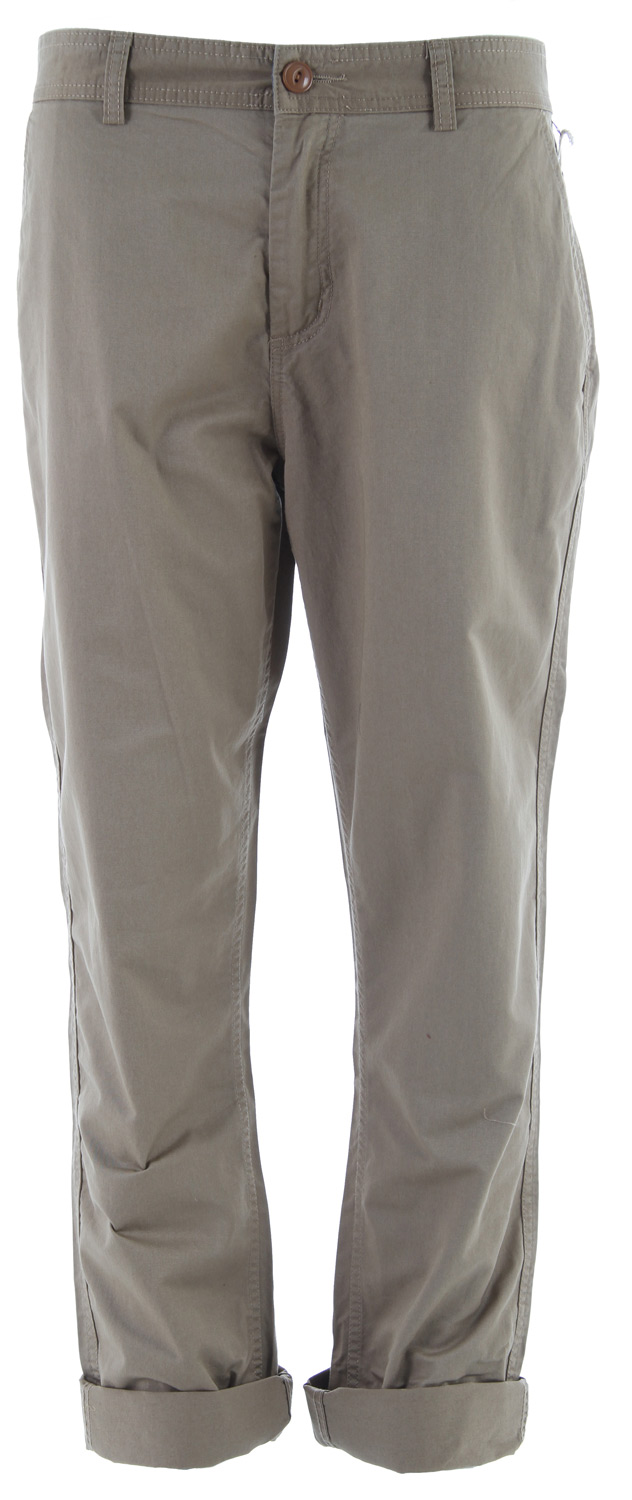Key Features of the Obey Traveler Pant: 100% cotton Light weight twill chino pant with hidden snap back pockets and chambray interior waistband The most comfortable and versatile pant you've ever worn Looks great wrinkled or pressed clean - $67.95