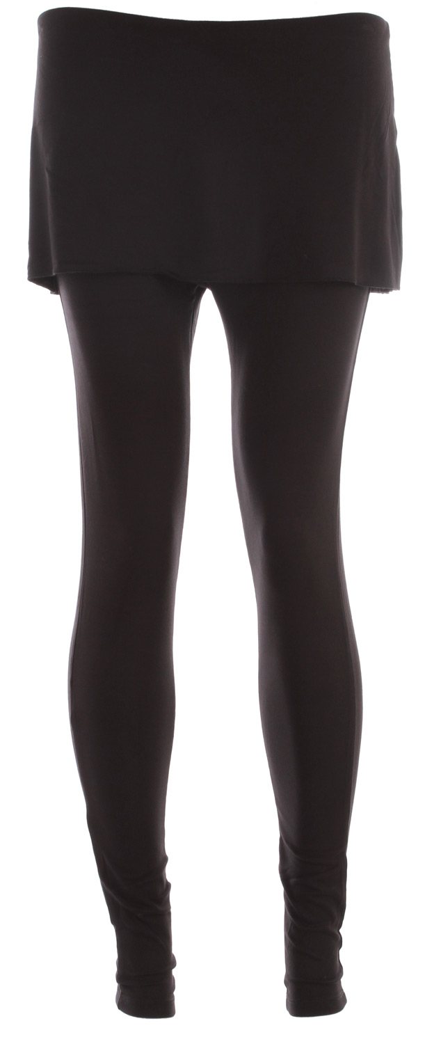 "Key Features of the Prana Satori Legging: 95% Rayon/5% Spandex - 6.2oz/sq yrd Elegant lightweight stretch jersey Tunic style legging with skirt detail 27"" inseam (S) Fitted Standard rise - $56.95"