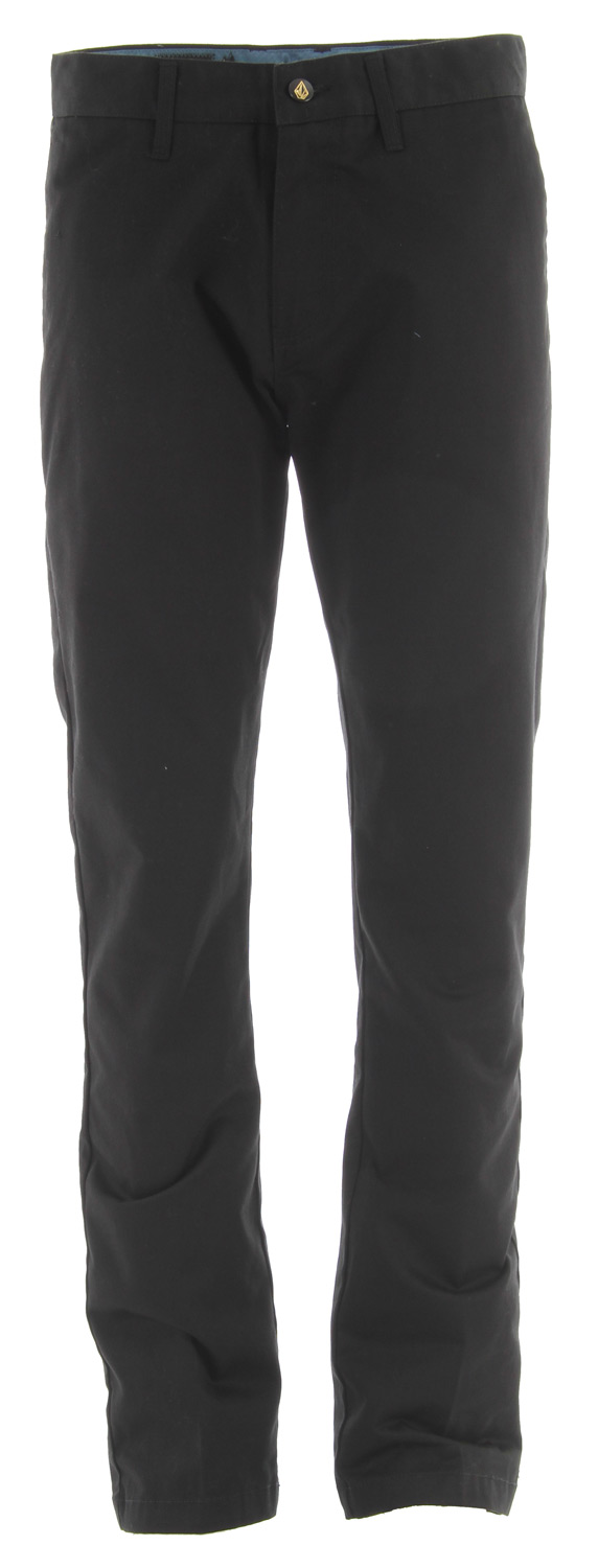 "Surf Key Features of the Volcom Frickin Modern Chino Pants: Modern fit chino pant 16.5"" leg opening, prelaundered. Corpo Class Collection 65% Polyester / 35% Cotton Twill - $30.95"