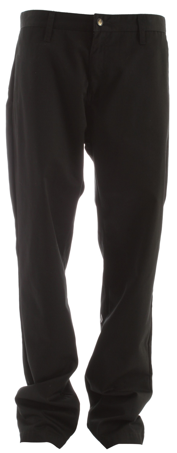 "Surf Key Features of the Volcom Frickin Chino Pants: Relaxed fit chino pant 16"" leg opening Pre-laundered 65% polyester/35% cotton twill - $31.95"