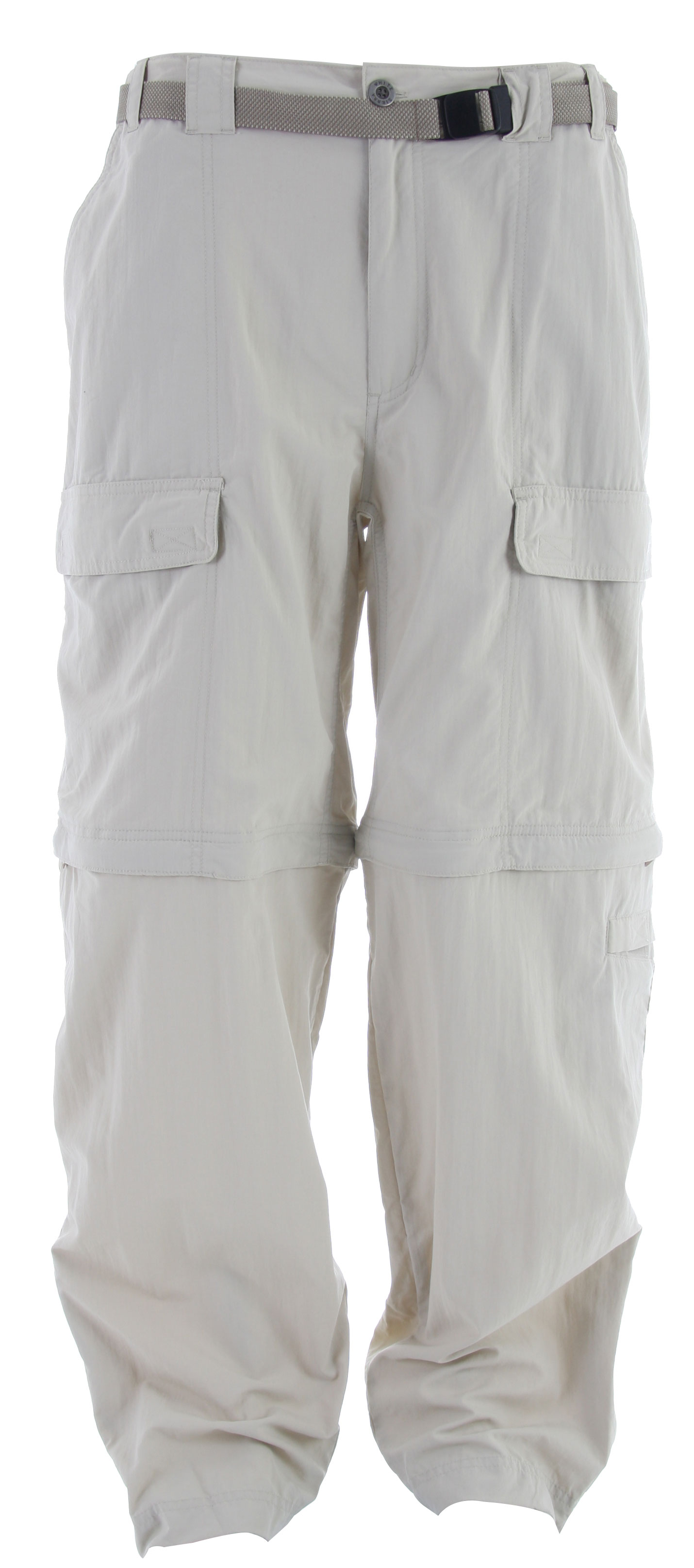 "Zip-off pant legs make for an easy change from pants to shorts, or vice-versa. Vertical side zippers on cuffs allow the leg sections to slip off easily over footwear. Lightweight nylon offers UPF 30 sun protection.Key Features of the White Sierra Trial Pants: 100% nylon Sierra Cloth woven UPF 30 Convertible pant Comfort fit side elastic Front cargo pockets Back cell phone pocket Gusseted crotch Attached jacquard belt Velcro tap adjustable leg opening Short inseam: 10"" Pant inseam: 30"", 32"" and 34"" - $32.95"