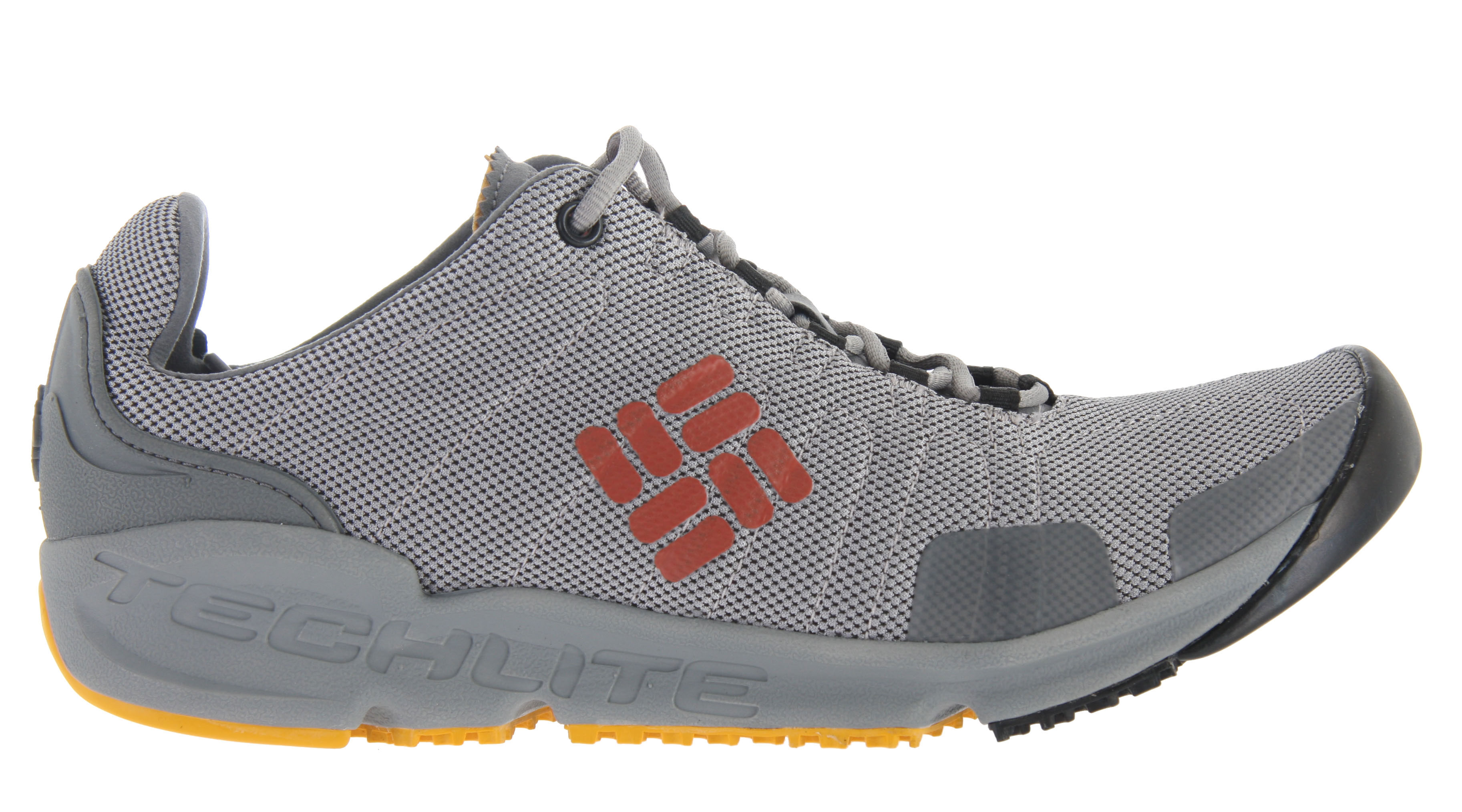 Camp and Hike What goes up must come down, a task the multi-sport Columbia Descender Shoe is well suited for. Inspired by rock climbing but meant for all multi-sport activities, it's designed as the ultimate walk-off shoe, perfect after the snug confines of a rock climbing or hiking boot. A minimal closed-mesh upper features micro-suede overlays for stability, while a Techlite heel and tongue lends serious comfort. The midsole features lightweight cushioning foam and a stabilizing TPU shank, while a mix of Omni-Grip sticky rubber and high-traction rubber on the outsole provides maximum grip on rocky routes and rough trails. Key Features of the Columbia Descender Shoes: Closed mesh upper micro-suede overlays and webbing Lightweight, packable design Back carabineer loop Single-density Techlite foam midsole Internal TPU shank for torsion control Omni-Grip sticky rubber compound forefoot for maximum traction on rock and other hard surfaces Omni-Grip high-traction rubber compound for sure footing on varied terrain Weight: Size 9, 1/2 pair = 9.55oz/271g - $48.95