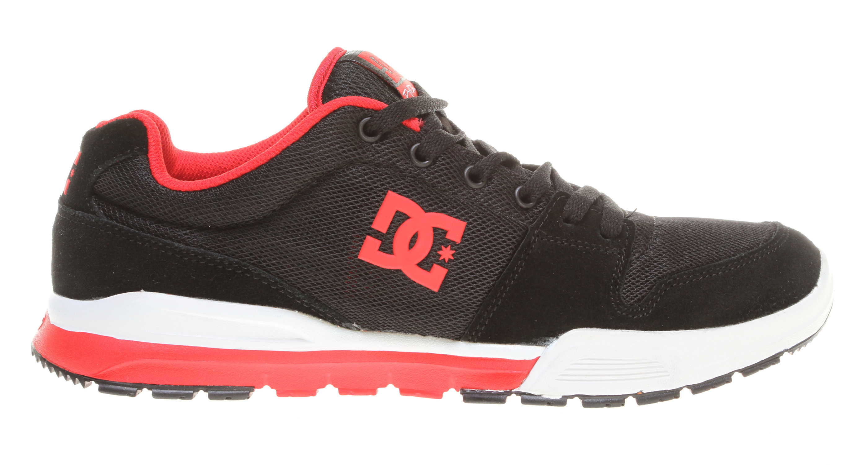 "Skateboard Key Features of the DC Alias Lite Skate Shoes: Rob Dyrdek's new lightweight, flexible jogger featuring DC's revolutionary UNILITE technology Soft resilient suede overlays with mesh underlays Lightweight mesh tongue bottom Provides long-lasting cushioning & impact protection Strategically placed rubber on the outsole for long-lasting durability DC's Trademarked ""Pill Pattern"" bottom - $39.95"