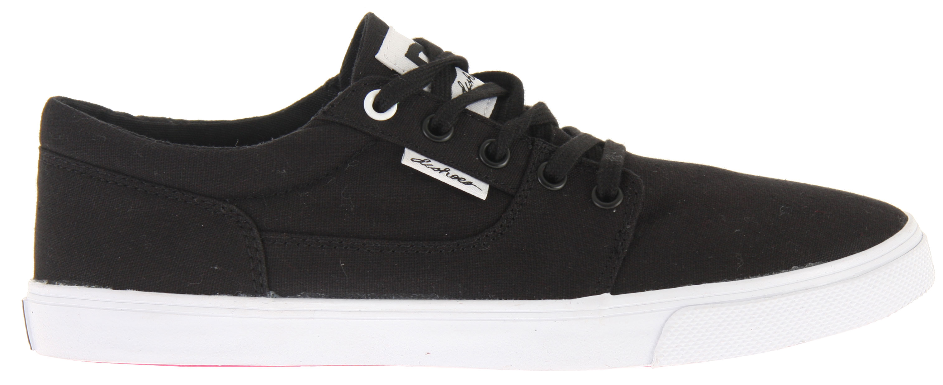 "Skateboard Key Features of the DC Bristol Canvas Skate Shoes: Classic Skateboarding style Canvas upper for comfort Vulcanized construction DC ""Pill Pattern"" sole for functionality Super sticky outsole DC logo tab and tongue Foam padded tongue and collar - $28.95"
