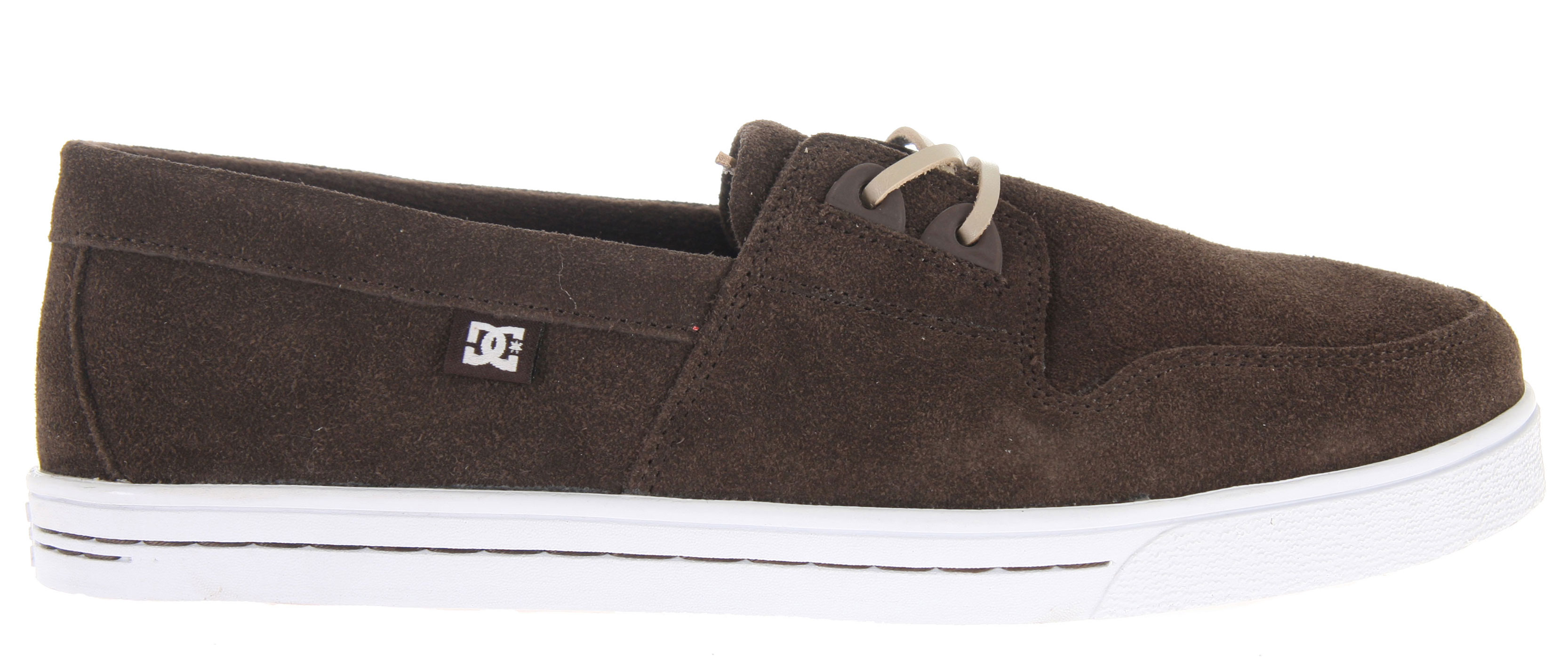 "Skateboard Key Features of the DC Club Skate Shoes: Soft Resilient Action Leather TPU Eyelets DC's Performance Cup Sole Abrasion-Resistant Sticky Rubber Outsole with DC's Trademarked ""Pill"" Pattern Leather lace - $35.95"