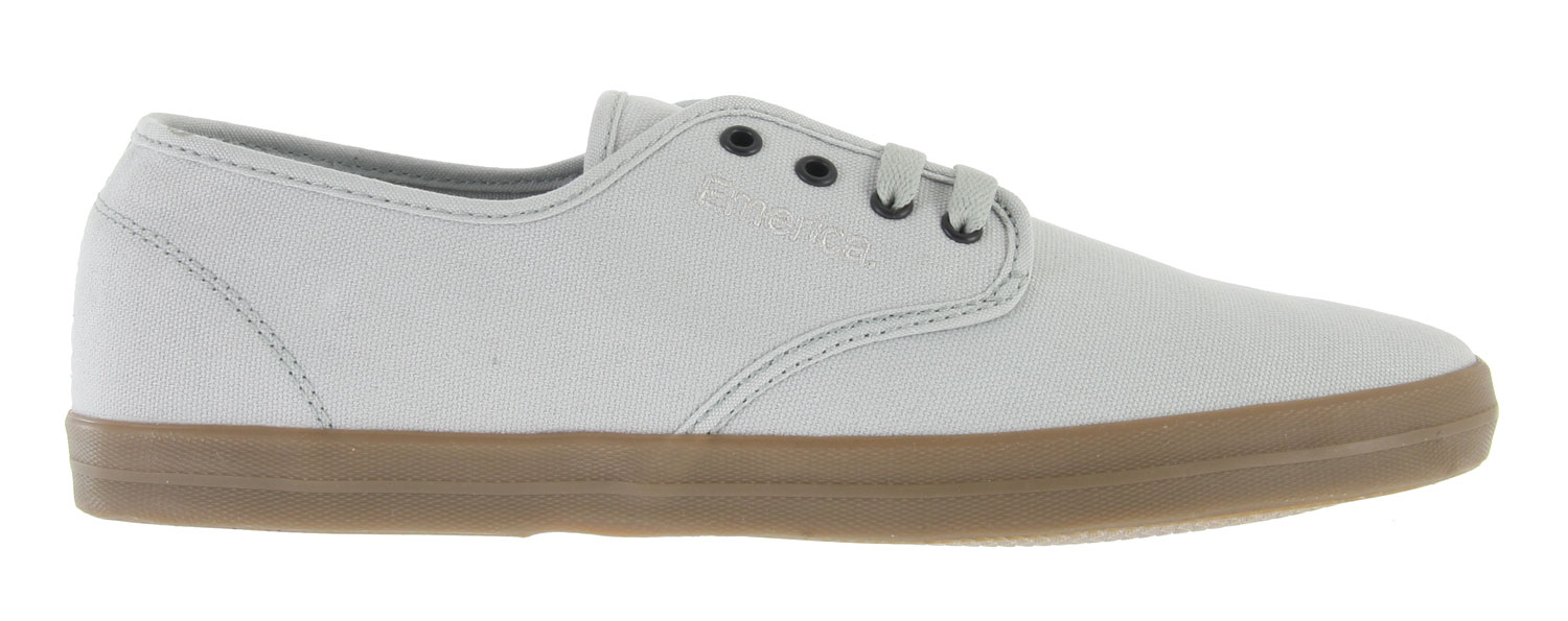 Skateboard Key Features of the Emerica Wino Skate Shoes: Suede and canvas upper materials STI Foam Lite level 1 footbed Vulcanized 400 NBS natural gum rubber outsole - $22.95
