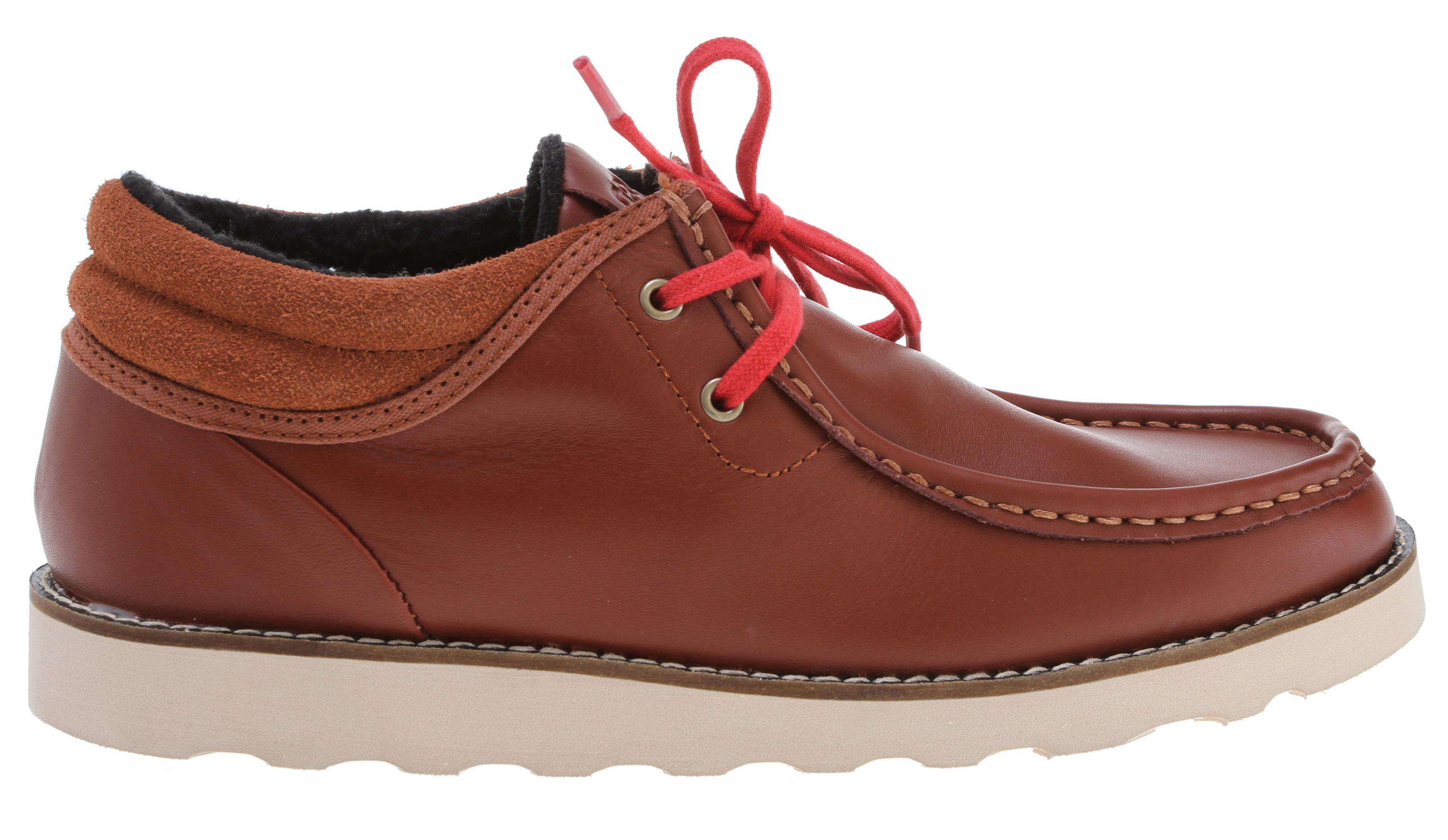 Key Features of the Gravis Mason Shoes: premium suede uppers gusseted tongue construction insulated terry cloth lining comfortable latex footbed with arch support durable one piece blown rubber outsole - $58.95