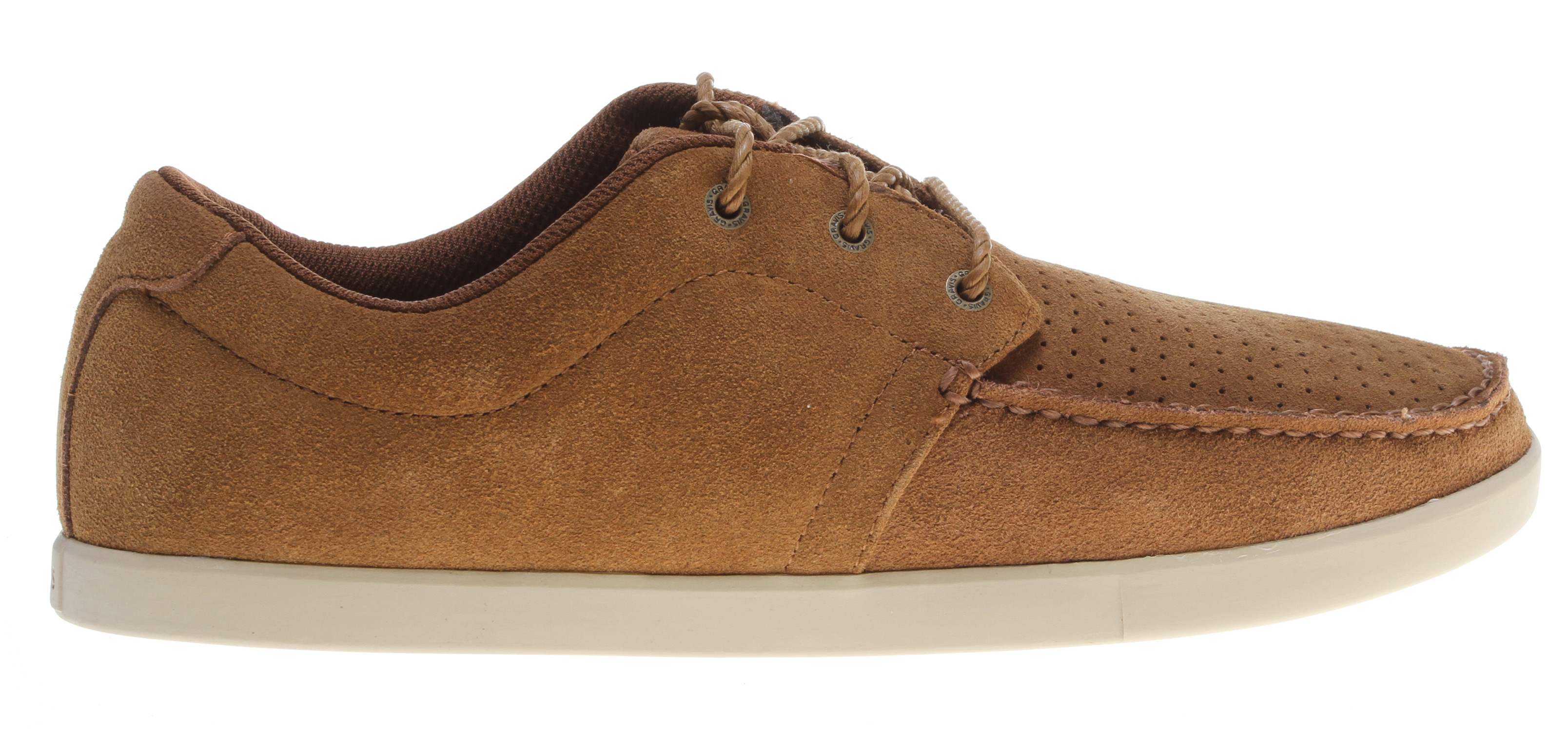Key Features of the Gravis Skipper Shoes: Premium Suede, And Performance Leather Upper Moccasin Toe Stitch Engineered Stripe Lining Internal Cushioning-Eva, Latex Insole Lightweight High Traction Rubber Outsole - $49.95