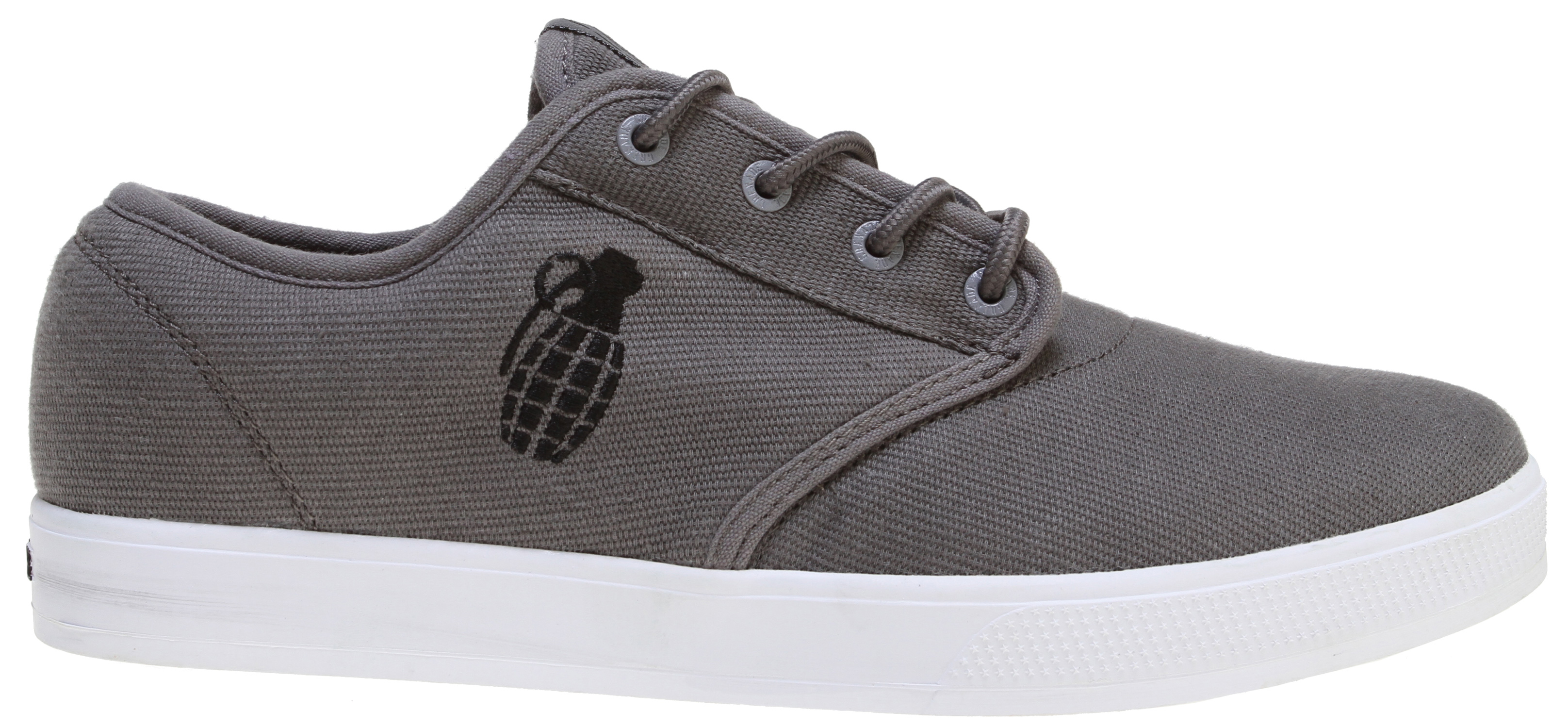 "The Grenade Unlaced Shoes features a casual unlaced look, perfect to wear outside during the day. Super comfortable, these shoes are ideal to wear for long periods at a time. Sport this look with a casual T-shirt and a pair of jeans and your outfit is complete. You're now ready to hit the town in ultra comfort and style.Key Features of the Grenade Unlaced Shoes: Grenade Shaped Lace Toggles A Pair of Grenade Branded Socks 8.5"" Die Cut Grenade Sticker Dogtags Shoebox itself is a Grenade Stencil - $27.95"