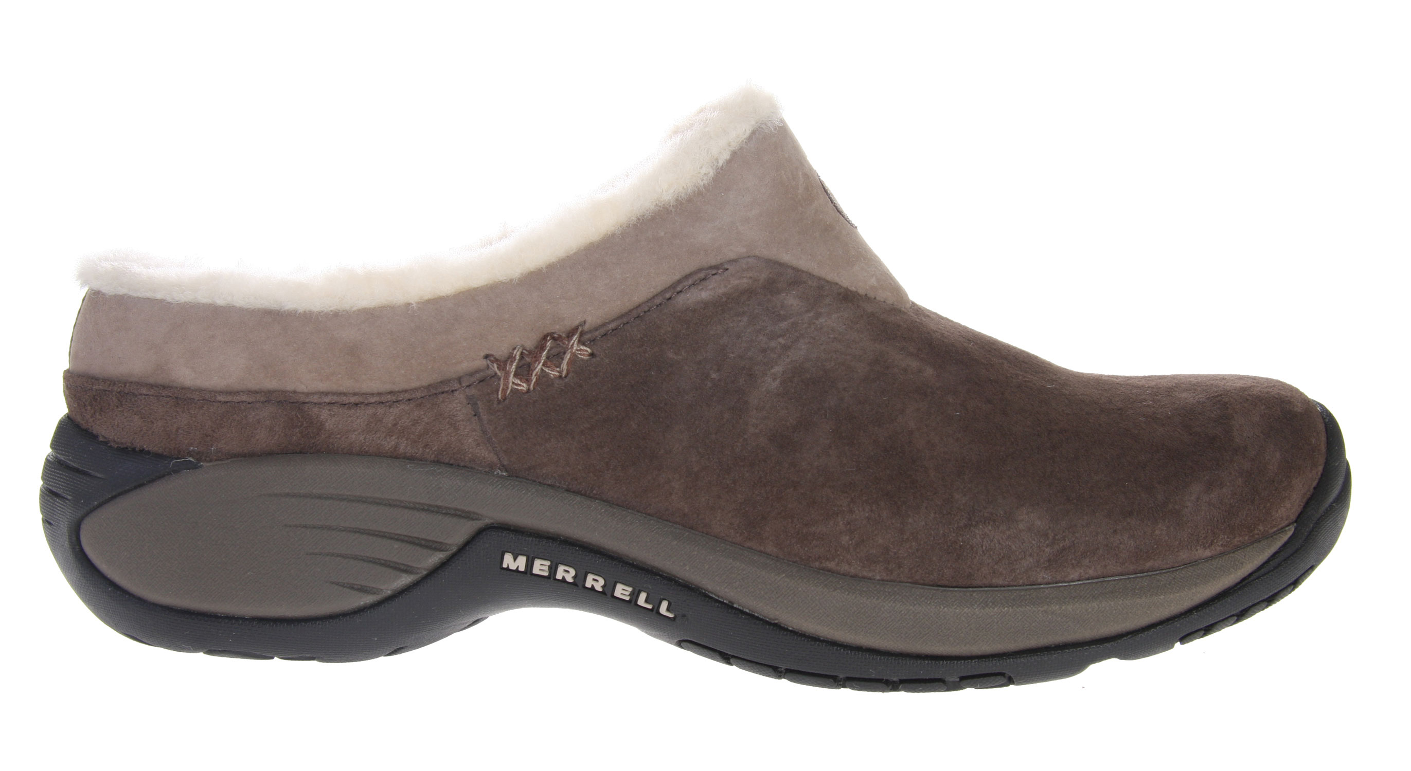 Encore Ice. An upgrade to the Encore Chill, Merrell added some classy collar accents to the sheepskin lined upper, and used lightweight cement construction that holds up to the miles you''ll log in. The wool fleece footbed outperforms anything else for warmth and moisture control underfoot.Key Features of the Merrell Encore Ice Shoes: Cement construction provides lightweight durability Full grain, pig suede or nubuck leather upper Sheepskin lining Wool Fleece Footbed Molded nylon arch shank QForm Comfort EVA Midsole provides women''s specific stride-sequenced cushioning Merrell Air Cushion in the heel absorbs shock and add stability Merrell Encore 2 Sole/Sticky Rubber Weight: 1 lb. 5 ozs. - $110.00