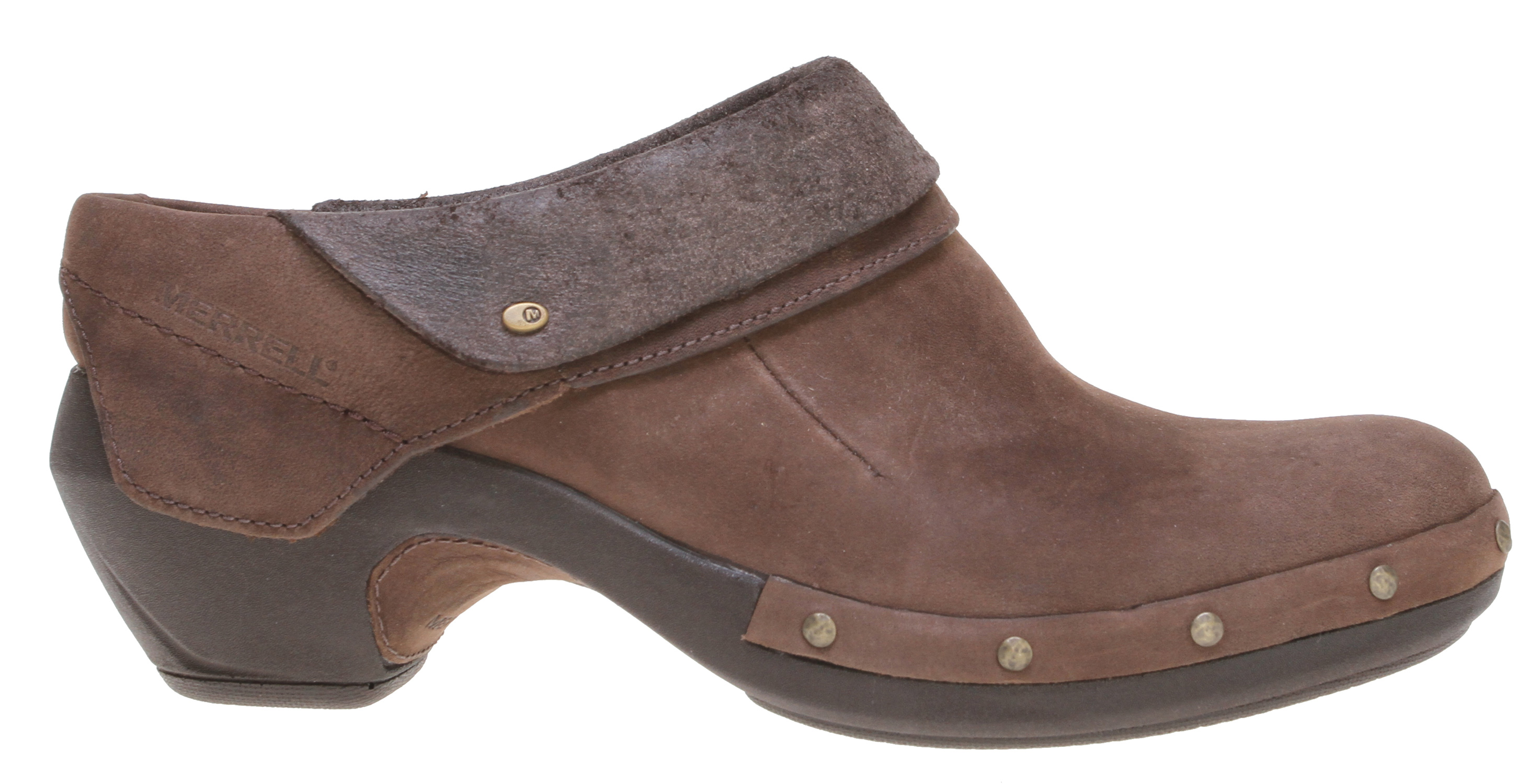 Sophistication and comfort meet at the intersection of your inspired life in our podiatrist-approved Luxe Mid clog. Accepted by the American Podiatric Medical Association, this premium oiled leather supports your day in style, with a breathable pigskin lining, molded arch support, lightweight durable midsole and air cushion in the heel.Key Features of the Merrell Luxe Wrap Shoes: Cement construction provides lightweight durability Oiled nubuck leather upper Pigskin lining for premium comfort and breathability Pigskin covered footbed molded nylon arch shank Lightweight dual density PU midsole for durability Merrell air cushion in the heel absorbs shock and adds stability Merrell Luxe Sole/Sticky Rubber - $86.95