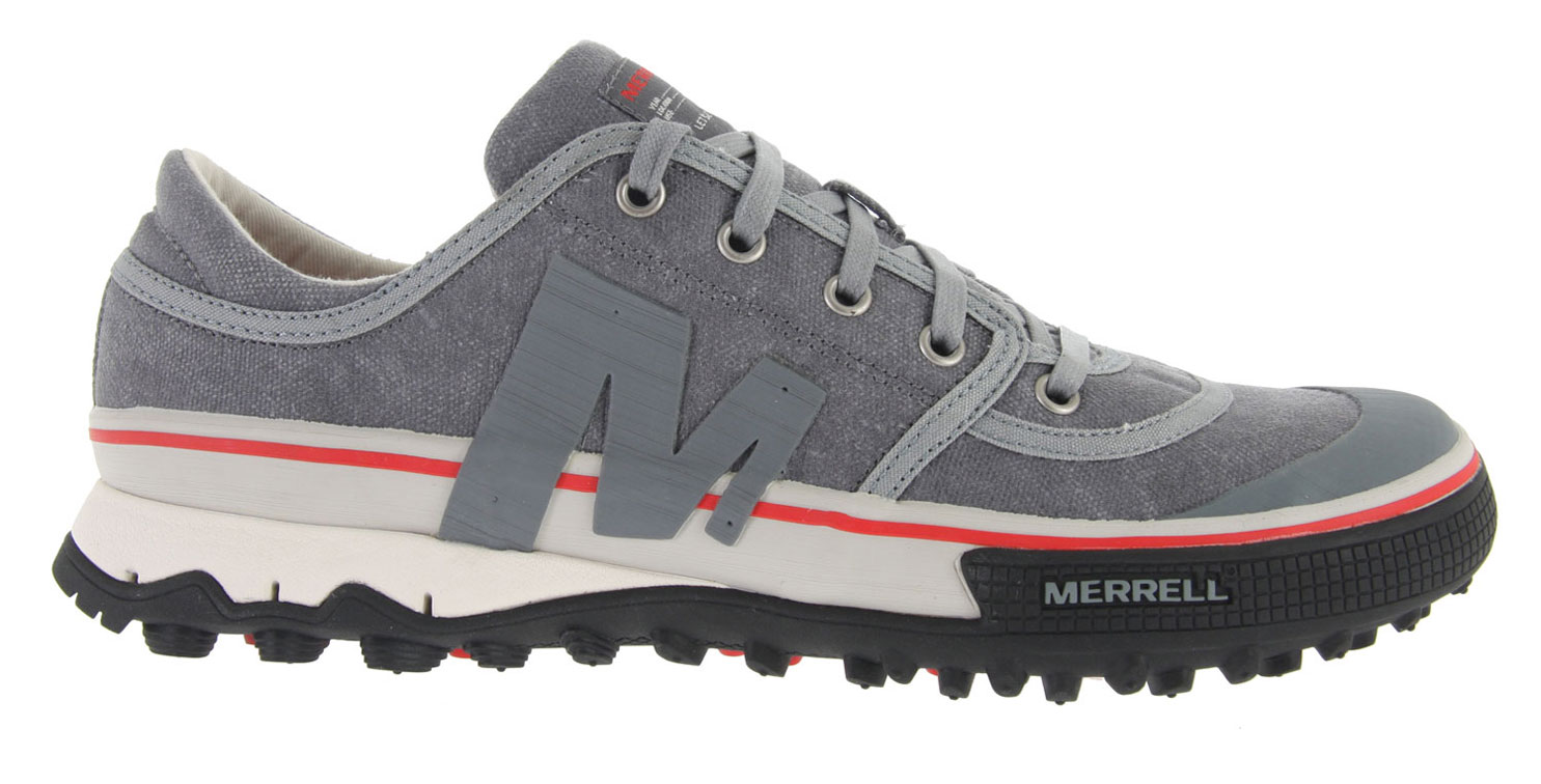Feel like a superhero from street dancing to first ascents downtown with the Merrell Primed Lace Shoe. Low-cut canvas and aggressive 5mm TC5 rubber lugs fuel your fire. A durable EVA footframe and air cushion heel guarantee comfort and support.Key Features of the Merrell Primed Lace Shoes: Cement construction provides lightweight durability Canvas upper Lining treated with Aegis (R) antimicrobial solution resists odor Compression molded EVA footframe for stability and comfort Merrell air cushion in the heel absorbs shock and adds stability Merrell Primed Sole/ Sticky Rubber 5 mm sole lug depth - $54.95
