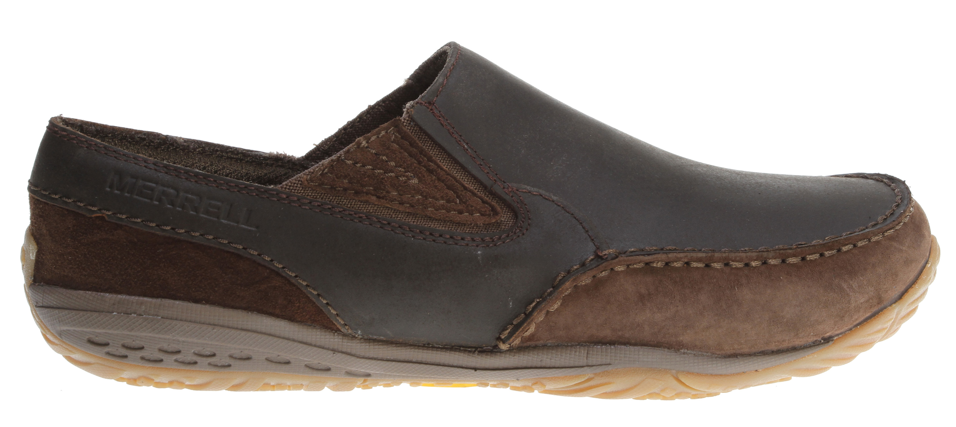 This barefoot casual translates your natural inclinations to life's work and town affairs. The sophisticated, full grain leather, chukka upper has internal support that secures the midfoot over our Barefoot midsole design -- aligning your body and letting you move the way nature intended. A microthin, 1mm flexible forefoot shock plate protects against bruising.Key Features of the Merrell Radius Glove Shoes: Barefoot Strobel construction offers flexibility and comfort Full grain leather and cow suede upper Non-removable microfiber footbed treated with aegis antimicrobial solution resists odor 4 mm compression molded EVA midsole cushion 1 mm forefoot shock absorption plate maintains forefoot flexibility and protects the foot by distributing pressure 0 mm ball to heel drop keeps you connected with your terrain Vibram traction glove sole Men's Weight: 13.8 ozs - $69.95