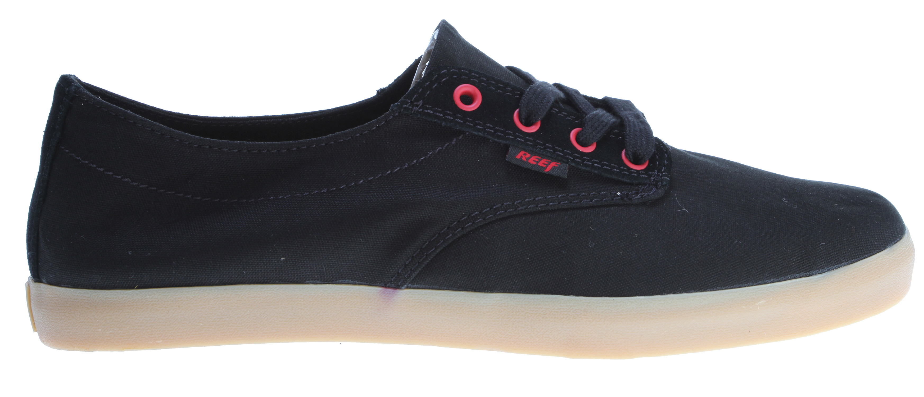 Surf Key Features of the Reef Stanley Casual Shoes: Reef coastal cruisers - hanging footwear Lace up/medium eye row Canvas upper Vulcanized mid sole tape Molded wax texture cushion insole Reef molded rubber swellular traction outsole - $38.95