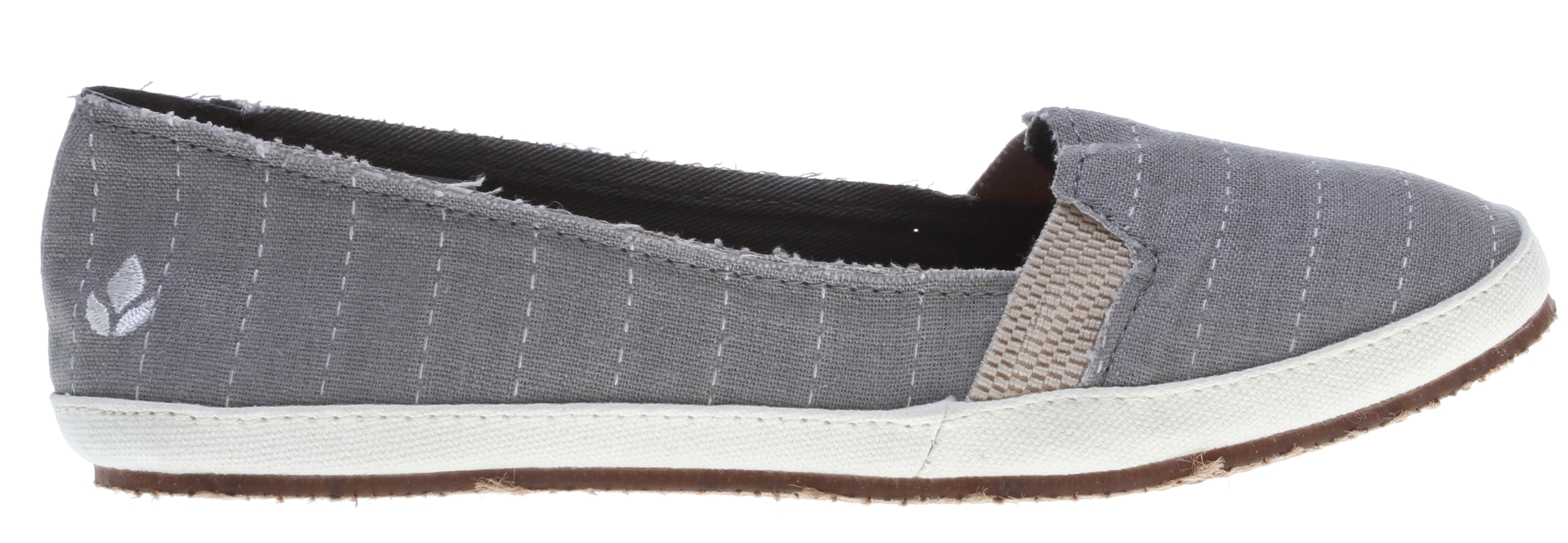Surf Key Features of the Reef Summer Shoes Grey Stripe: Canvas upper in a casual flat slip-on style with a round toe Embroidered logo detail at heel Slip-on construction Fabric lining and quilted foam insole Anatomical arch support Durable rubber outsole - $34.95