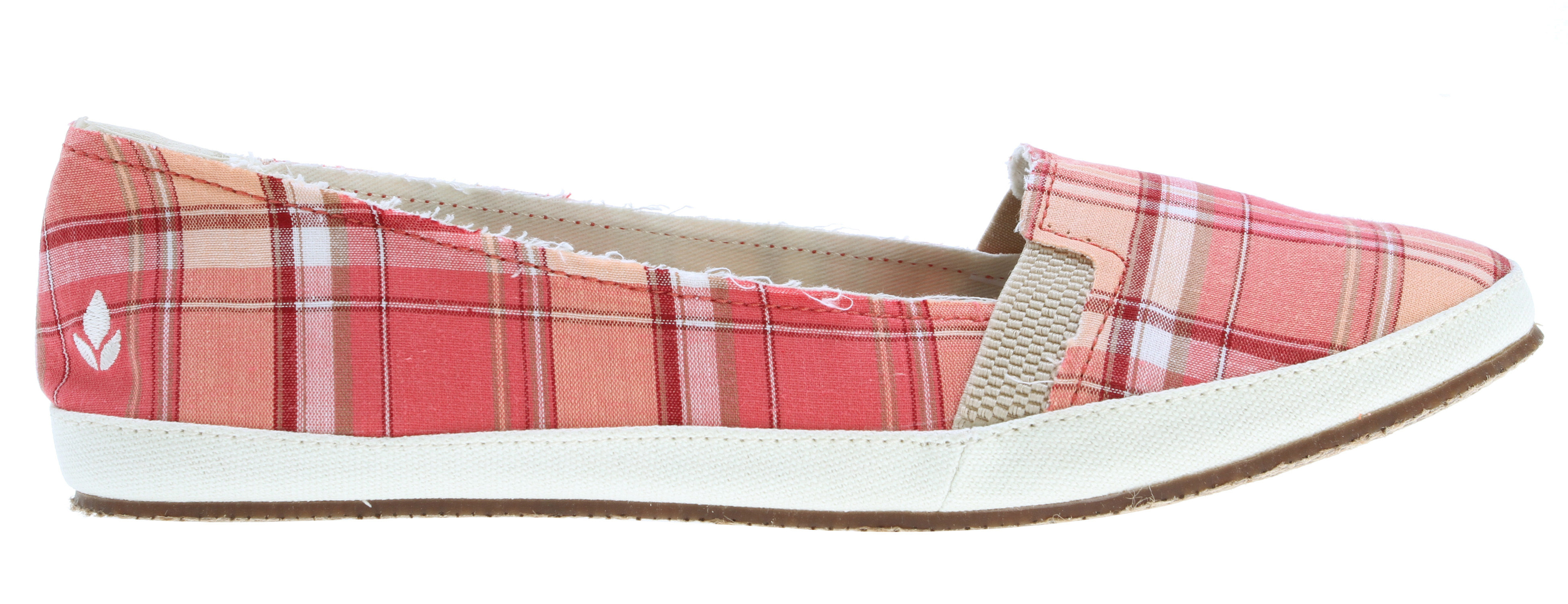 Surf Key Features of the Reef Summer Casual Shoes: Cotton canvas upper with elastic goring Interior suede heel patch for comfort mattress-inspired quilted pu foam footbed with anatomical arch support Durable rubber outsole with jute inlay - $34.95