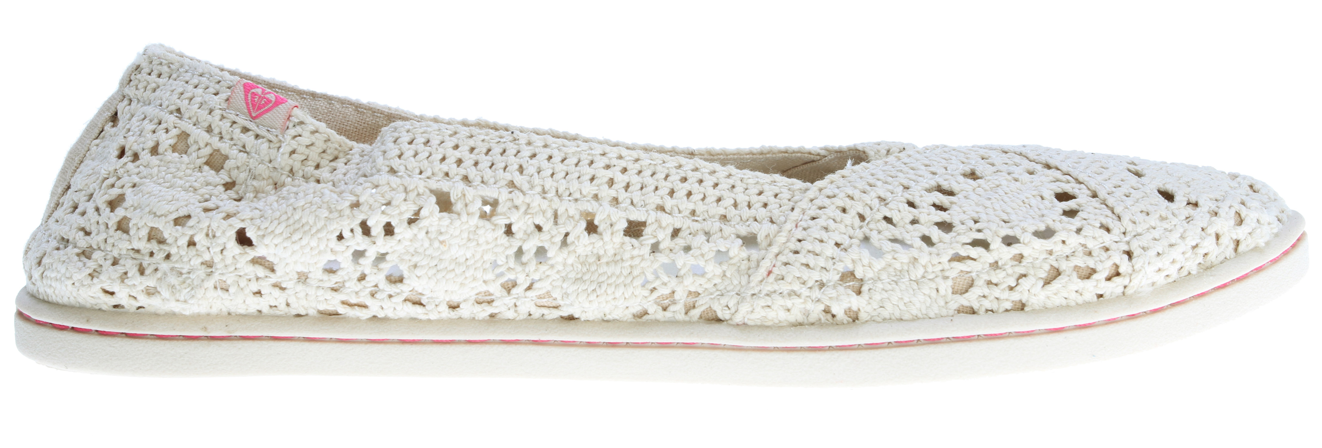 Surf Key Features of the Roxy Boardwalk Shoes: Crochet uppers Logo flag Canvas lining and logo printed sock Soft padded insole for comfort TPR injected outsole - $27.95