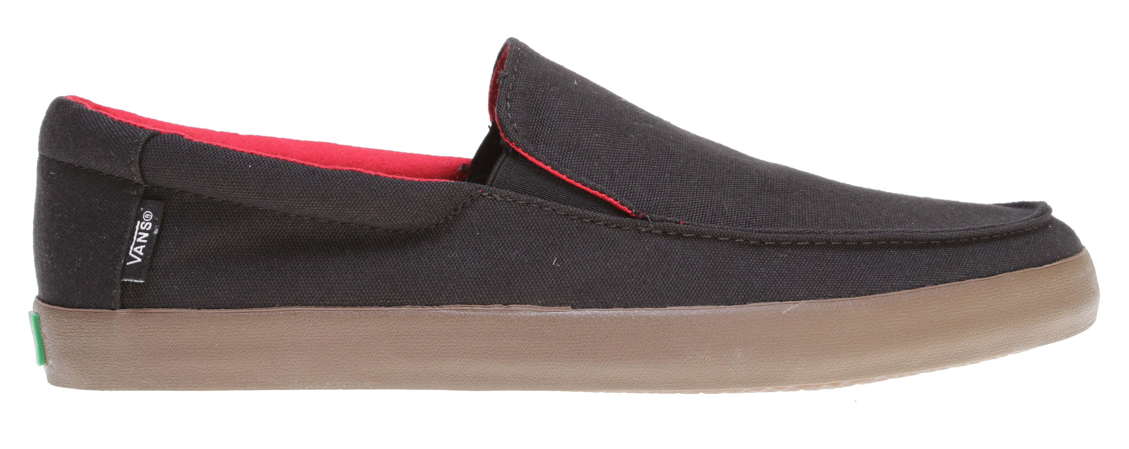 Skateboard Key Features of the Vans Bali Skate Shoes: Recycled Pet, Canvas, Hemp or Premium Suede uppers Soft fleece or flannel liner on suede styles Super comfy Vanslite Footbed Flexi vulc gum rubber outsole Waterbased inks and glues Easy fit style - $41.95