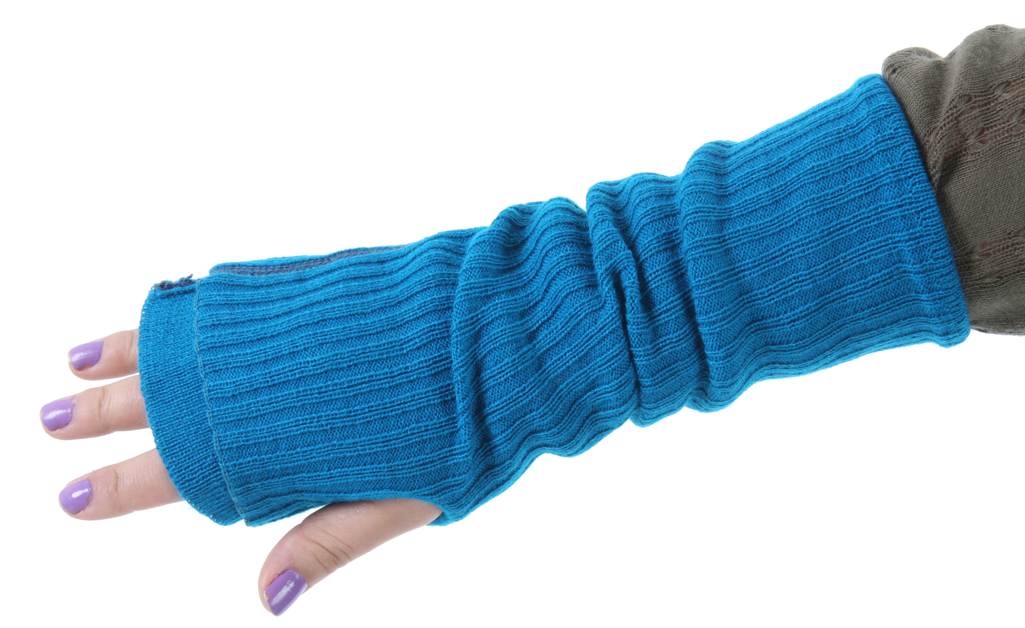 The Coal The Nichols Armwarmers have a unique two layer arm warmer with contrast stitching and embroidery details, Cashmere-like Acrylic. - $9.95