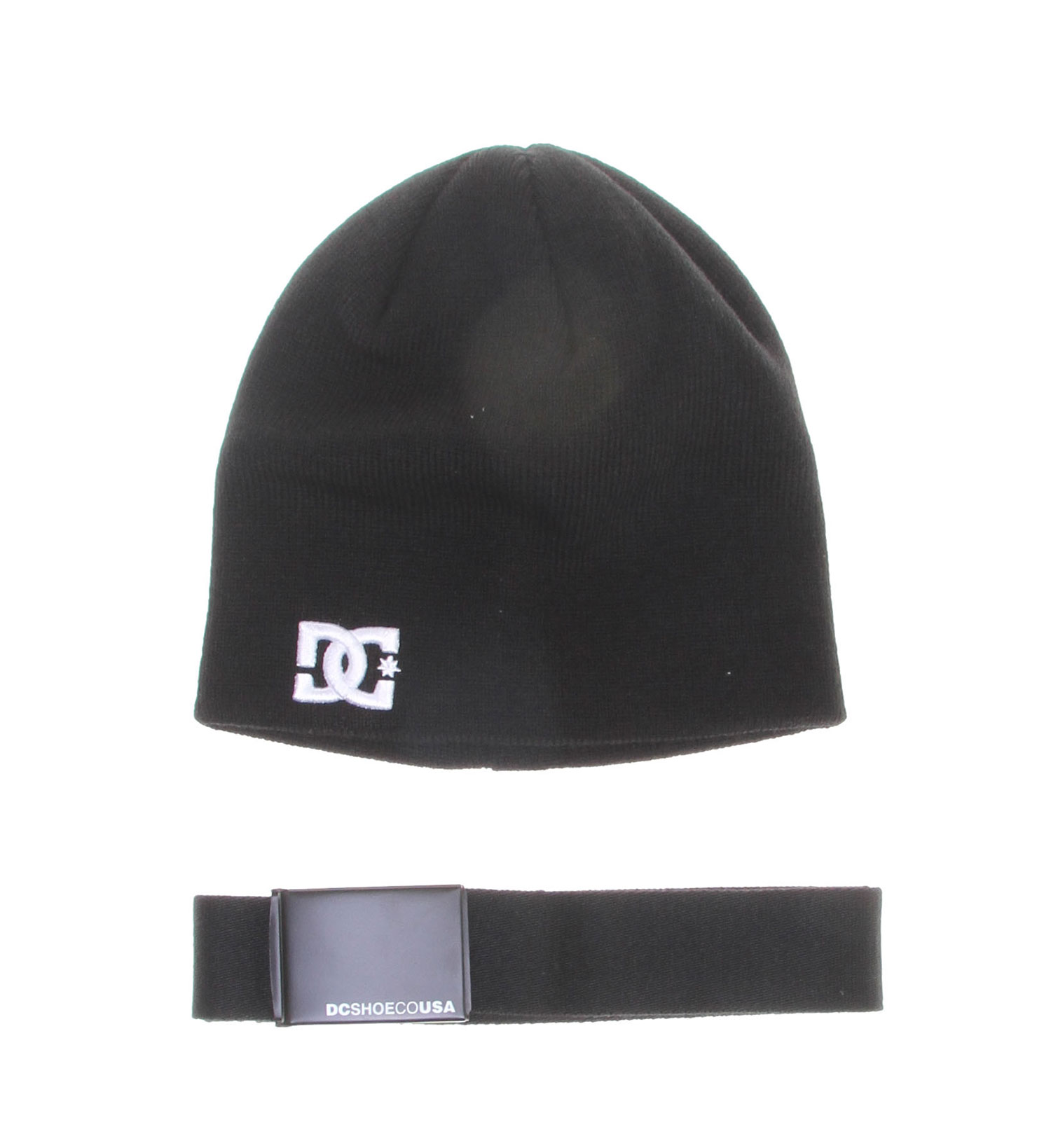 Skateboard This handsome gift pack is a great buy for any student or artist who also loves skating and representing their brand. This pack includes a black beanie with matching belt as well as a matching pencil case that will fit well inside any binder. The gift pack also includes matching stickers and with the savings listed they won't last long!Key Features of the DC Ghea Gift Pack:  Includes: beanie, belt, stickers, and is enclosed in a DC pencil case  100% polyester - $13.95