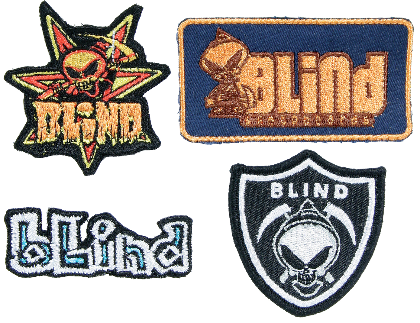 Skateboard Blind Fuse has a way for you to show your style and support of the brand with Blind Fuse Skateboard Patches. Assorted styles and colors amp up your skate gear and keep the holes covered from those dirty falls when the shred didn't quite work out. These patches can be used wherever you need a little Blind Fuse to give you insight; pants, shirts, jackets, hats, or even get creative in your room. Do yourself a favor and step up your style with Blind Fuse Skateboard Patches. - $2.95