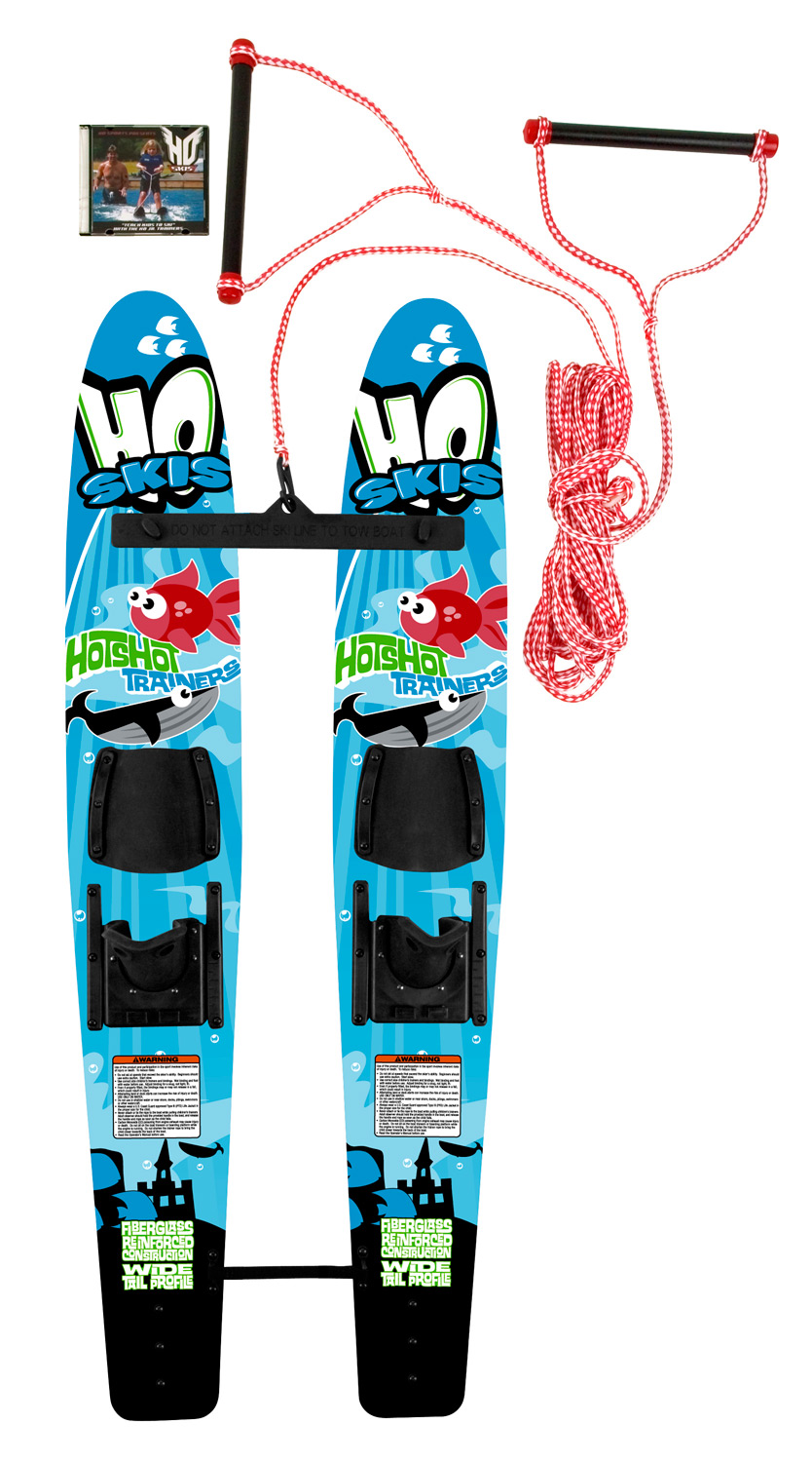 "Ski Versatile children's combo setKey Features of the HO Hot Shot Trainers Bar/Dvd/Rope: Kid's Starter Ski Set Includes Trainer Bar and Rope System ""How To"" DVD Included - $118.95"