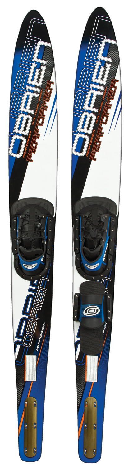 "Ski The adjustable X-8 binding securely holds almost any size foot without sacrificing performance. Extra surface area provided by the wide fore-body allows for easy deep water starts. Also the Performer has an aggressive rocker and bevels making it a great slalom ski.Key Features of the O'Brien Performer 68"" Combo Skis w/ X8 RT STD Bindings: Length - 68"" / 172Cm Fin- A.R.C. Binding- X-8 Bindings Foot Size- Mens 7-13 - $199.99"