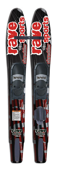 Ski The wide shape of the Jr. Shredder Combo water skis allow for younger skiers to balance easier on the water. The pre-mounted slalom toe allows for a quick transition from beginner to intermediate. The double density adjustable slide binding is soft on the inside for comfort, but stiffer on the outside for ankle support. A stabilizer bar is included for beginners. Soft step inserts cushion riders foot. Made in the USA. 138cm. For riders 80-125 lbs. - $143.95