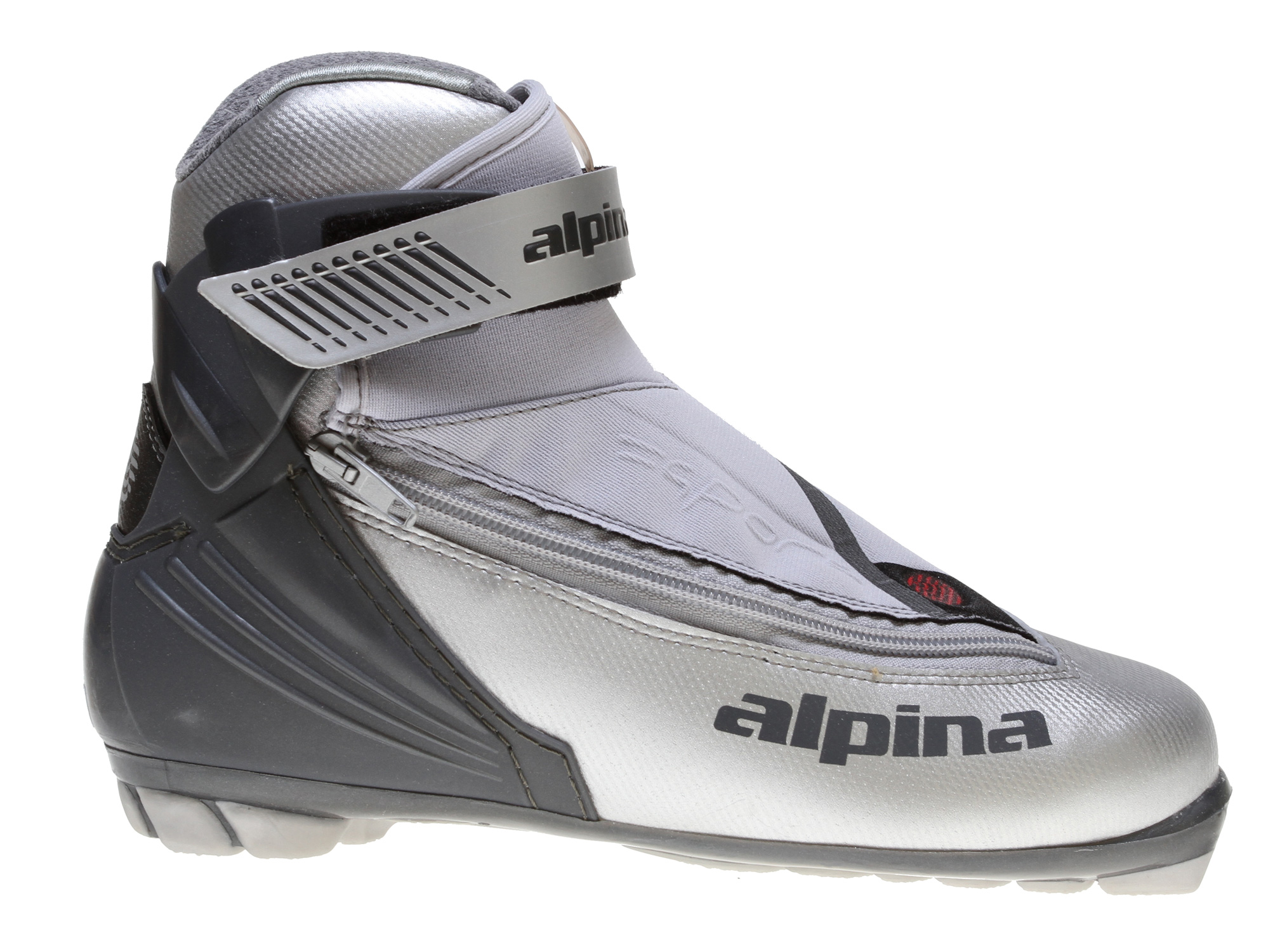 Ski The 2011 Alpina T25L nordic touring ski boots feature a women-specific fit that delivers all day happiness to your feet, providing plenty of support, warmth and the ideal stiffness for well executed classic technique kick & glide striding in groomed nordic ski tracks and also excursions off-trail in untracked snow, exploring through the woods and across snow covered meadows & frozen lakes. The womens' Alpina T25L cross country ski boots feature superb versatility and partners perfectly with any recreational touring skis and out-the-back-door-explorer skis for use at nordic ski touring centers, on snowmobile trails, along scenic ridgelines or cruising valley floors covered with fresh unbroken snow. With the additional support provided by the plastic heel cuff, upper power strap and molded heel counter, the women's Alpina T 25L ski boots provide tremendous control, balance and stability. - $52.28