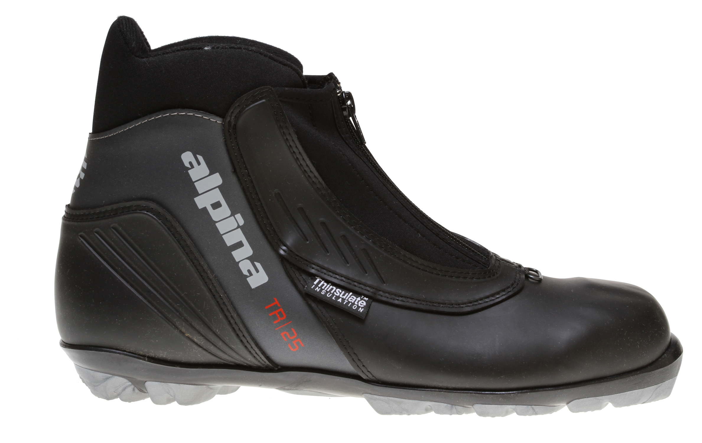 Ski Key Features of the Alpina TR 25 Cross Country Boots: Water-resistant synthetic uppers, padded collars and tongue Thinsulate insulation Speed lacing system NNN touring soles - $56.95