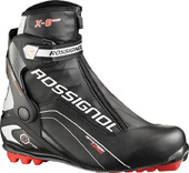 Ski Key Features of the Rossignol X8 Skate Cross Country Ski Boots: Heel External 3D plastic reinforcement, Bi-Injection Upper Cuff 3D Bi-Injection Lower PVC Lace Cover PVC Racing Weight per boot 615 gr / 42 Lining Polyester Thermo Adjustable Fit Velcro Strap Speed Lace Lock Skate Bicolor Sole - $139.95