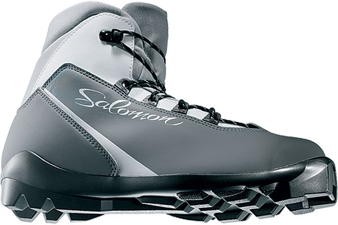 Ski Great fit and foot support for leisure touring skiers looking for a boot with good value. Warm fleece lining and a discrete feminine design.Key Features of the Salomon Siam 5 Cross Country Ski Boots: Internal thermo formed heel counter Salomon Touring Women fit Fleece lining - $114.95