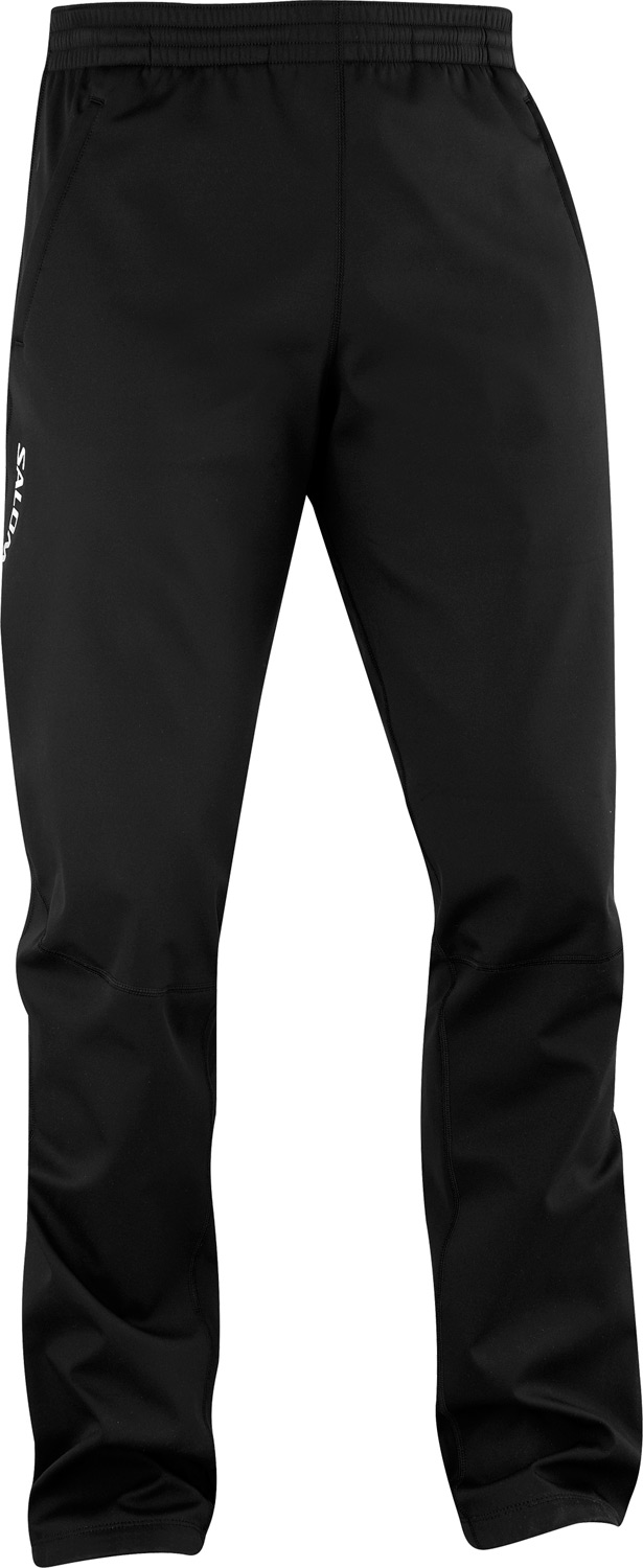 Ski Softshell pants with ClimaWIND front to block cold wind, and breathable back to let excess heat escape. Great for active in cold conditions.Key Features of the Salomon Active III Softshell Cross Country Ski Pants: Softshell smart skin Climawind 3L softshell actitherm stretch poly knit Zip opening lower leg Waist Adjustment Reflective branding front and back Active fit - $90.95