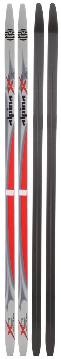 Ski Key Features of the Alpina LXC MG Cross Country Skis: Waxless extruded base Light swing weight Low maintenance Wood core Width: 54/48/50mm - $53.16