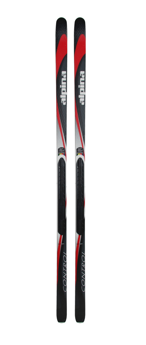 Ski Nordic skiers looking for a ski with tons of stability should consider Alpina Control cross-country skis. These skis are shorter than most traditional cross-country skis and constructed with a wood core to create a sturdy but flexible ski that is suitable for in-track and out-of-track skiing. Additional aspects of the skis, like a Scuff-Tuff plastic molded on the top of the ski and the waxless base help to keep snow from collecting and provide enough traction needed to make up hill climbs easier than normal. Alpina Control skis deserve a look.Key Features of the Alpina Control NIS Cross Country Skis: Wood Core Cap Construction Base: Non-wax Posi-grip Width: 65-53-62mm Scuff Tuff - $136.95